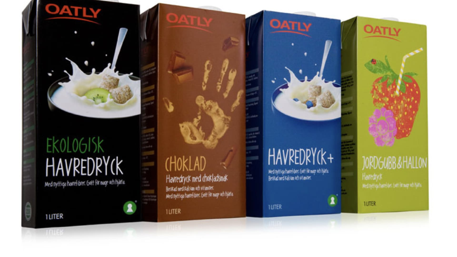 Oatly packaging before the rebrand.