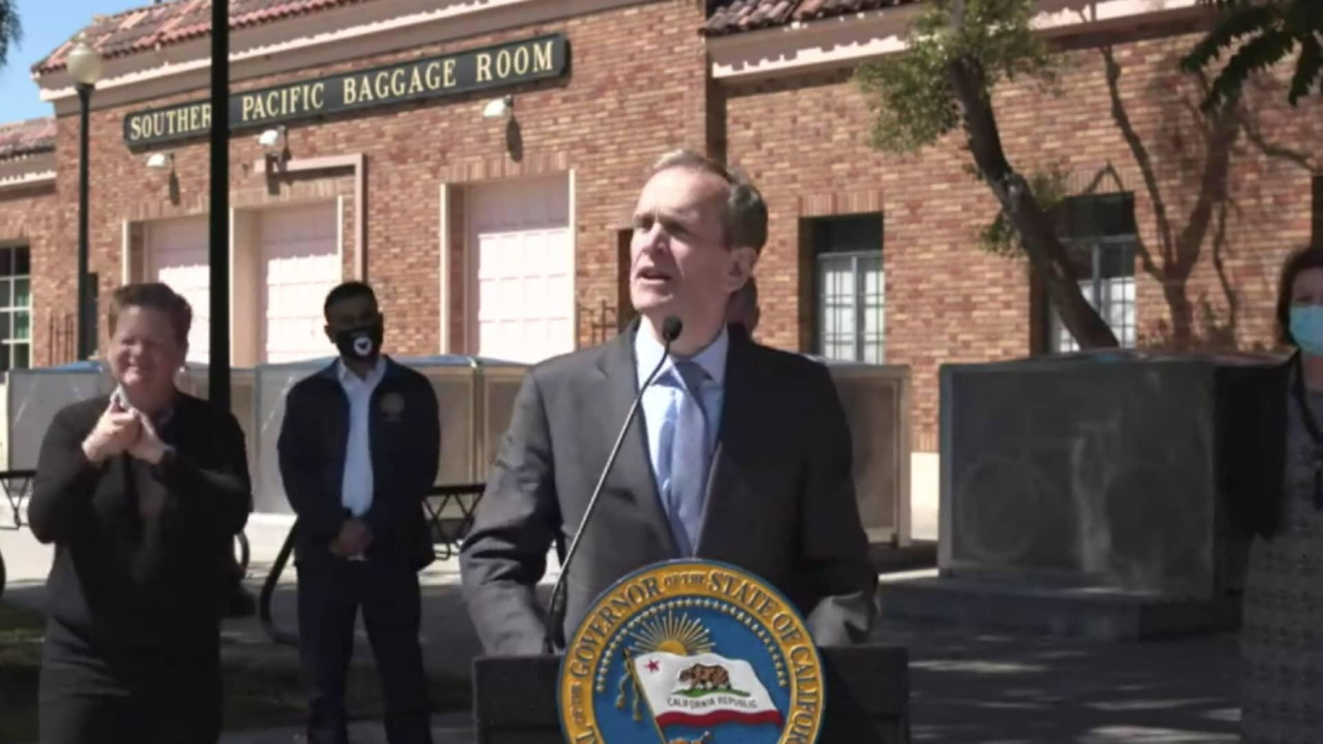Google's chief legal officer and global affairs SVP Kent Walker spoke at a SB7 bill signing in San Jose, California, alongside Governor Gavin Newsom.