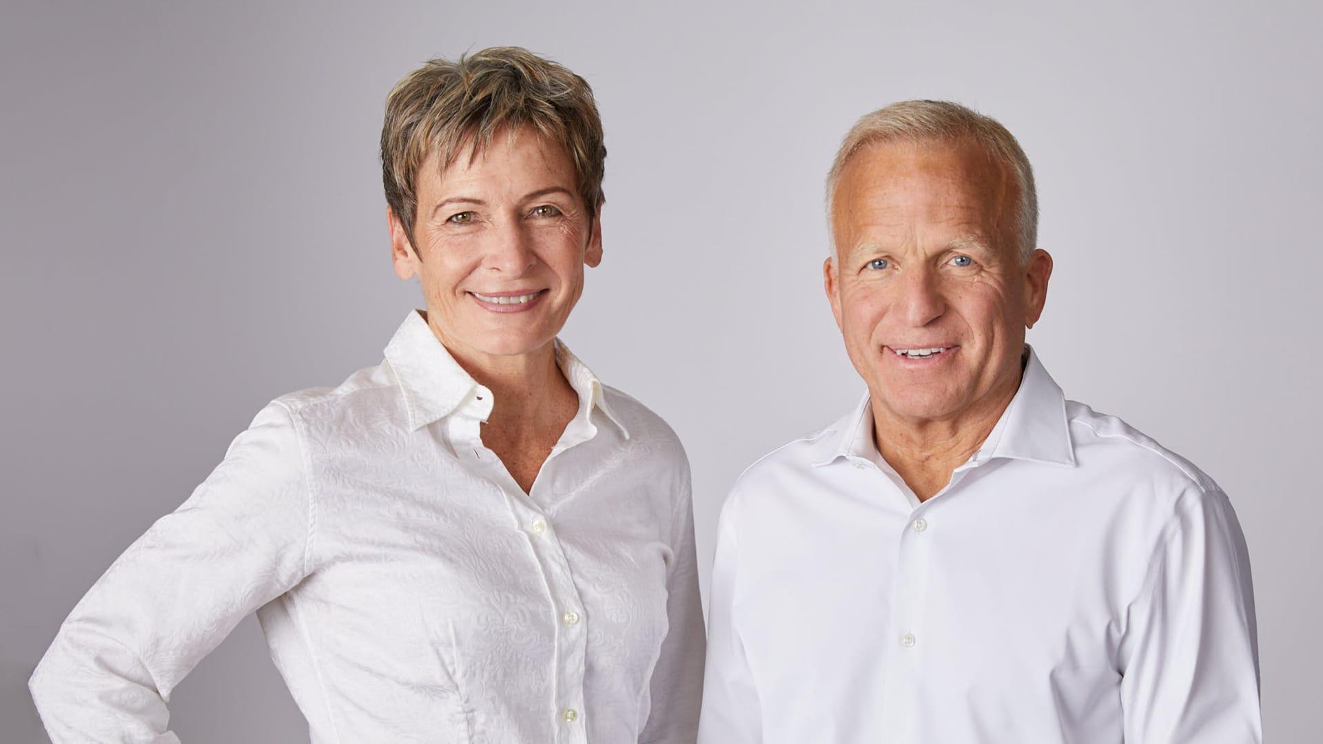 Peggy Whitson, left, and John Shoffner