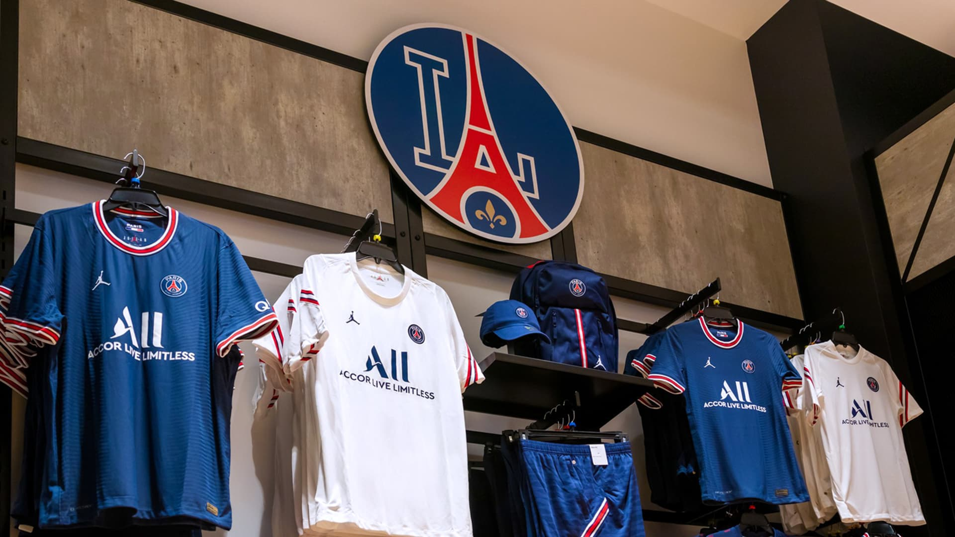 Paris Saint-Germain Football Club store which Fanatics is opening in Los Angeles.