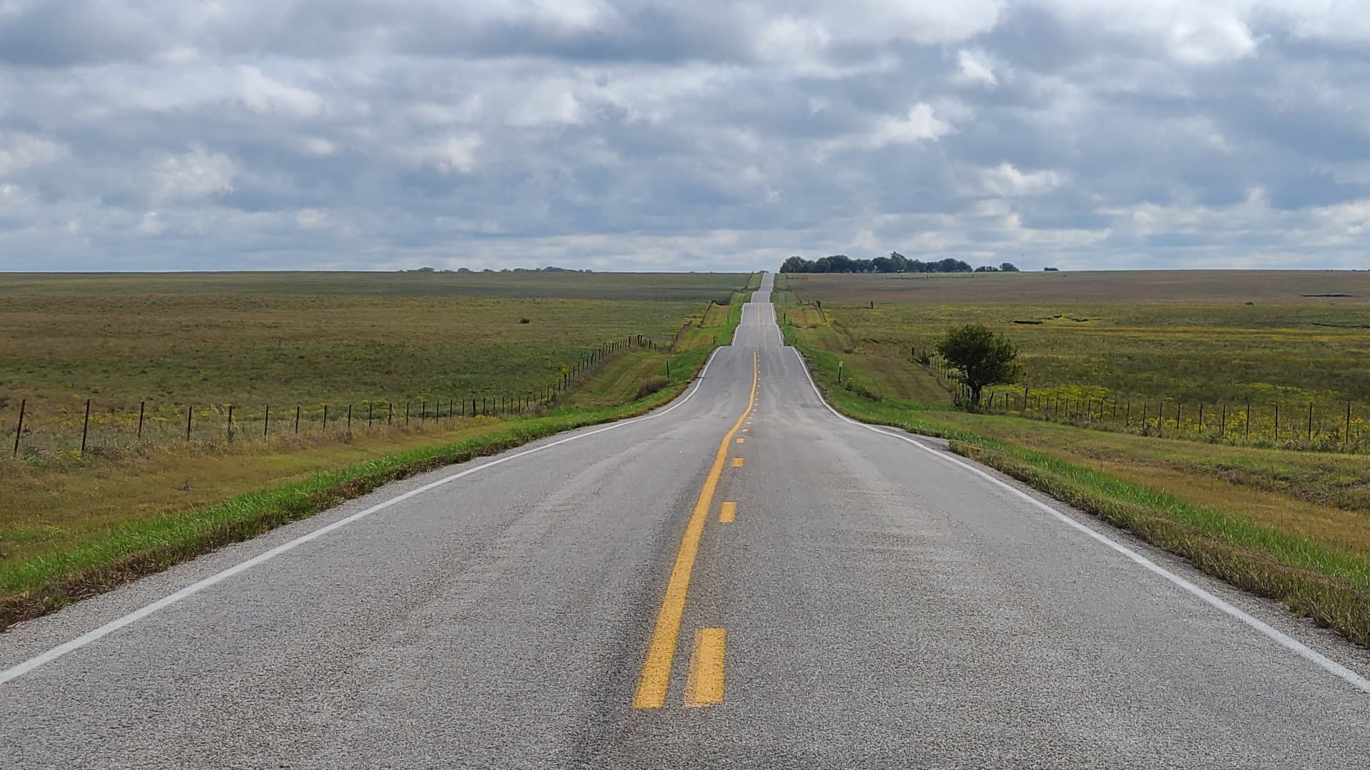 Miles of road in Kansas