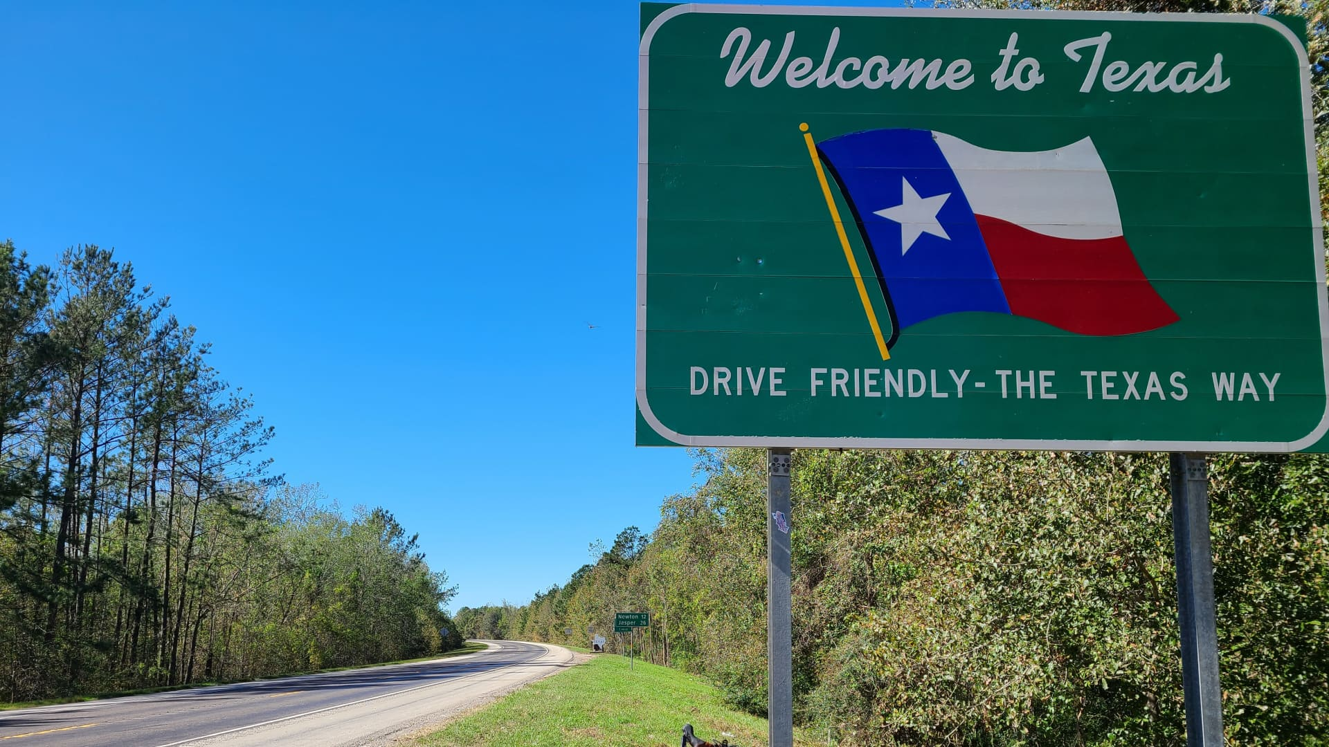Andrew reaches the Lone Star State