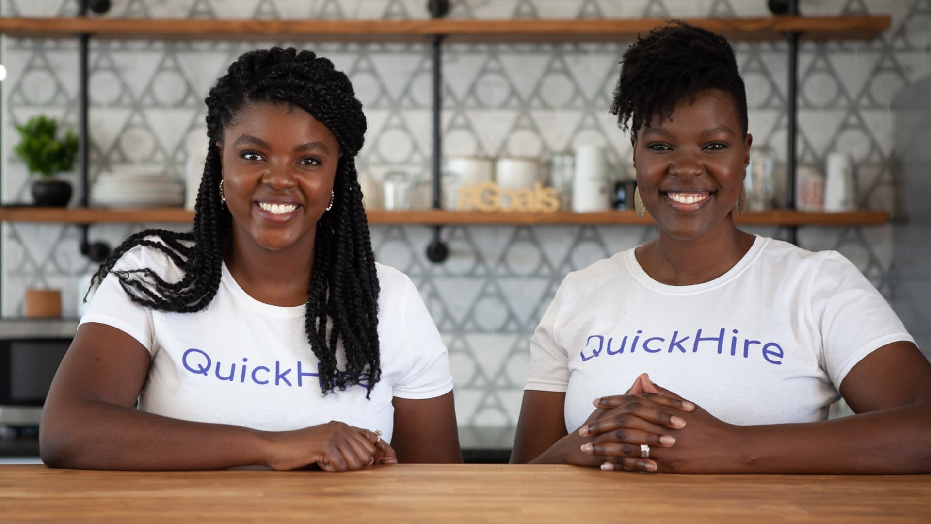 Angela Muhwezi-Hall and Deborah Gladney started QuickHire, a hiring platform, during the pandemic.