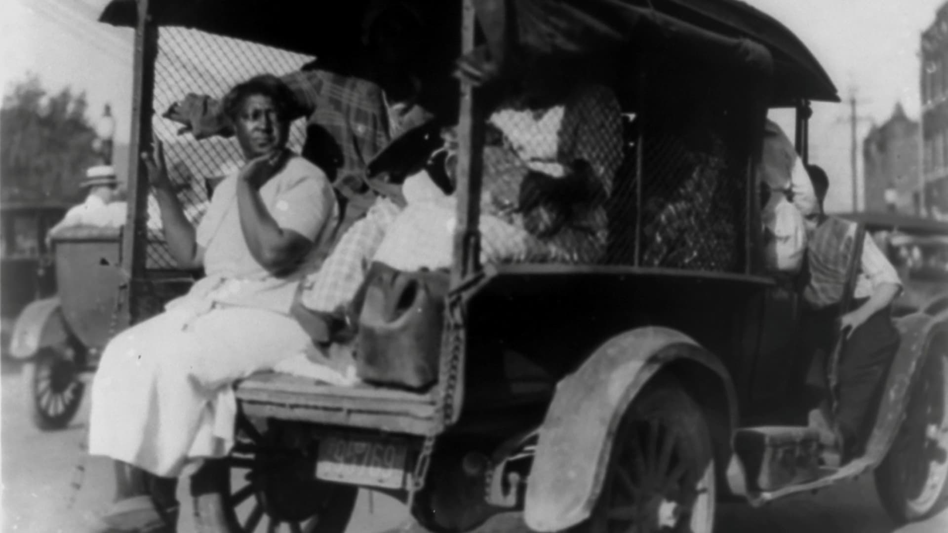 A truck carries African Americans during race massacre in Tulsa, Oklahoma, U.S. in 1921.
