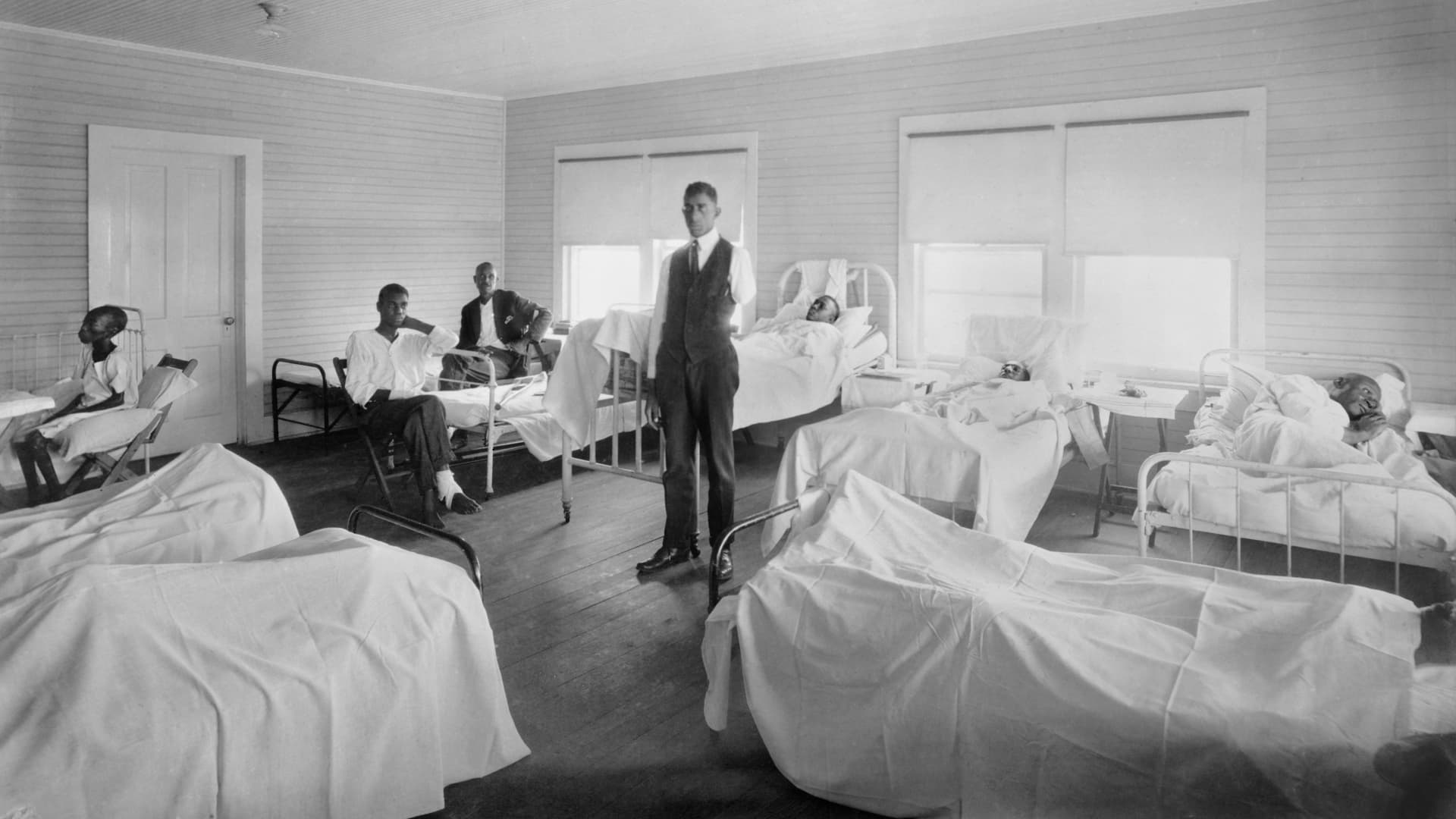 Patients recovering from injuries sustained in the Tulsa massacre. American National Red Cross Photograph Collection, November 1921.