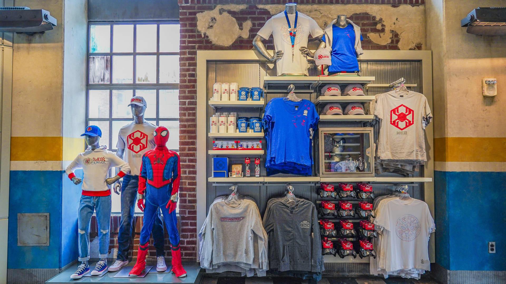 Avengers Campus at Disney California Adventure Park in Anaheim, California, offers exclusive merchandise for superhero recruits.