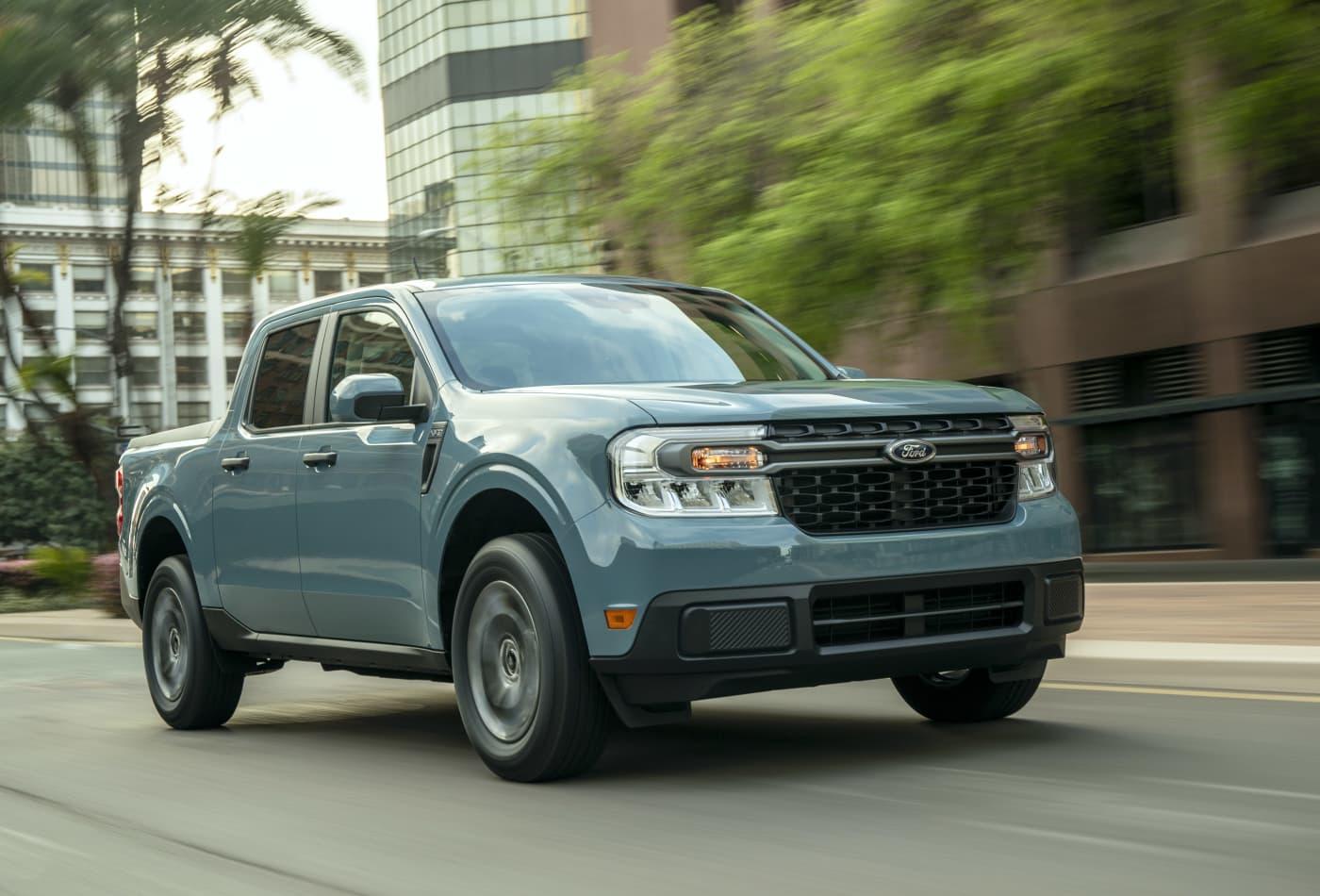 2022 Ford Maverick hybrid pickup: City-savvy 40-mpg truck ...