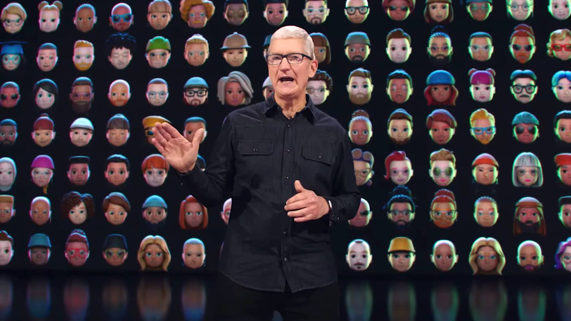 Tim Cook at WWDC21 on June 7th, 2021.