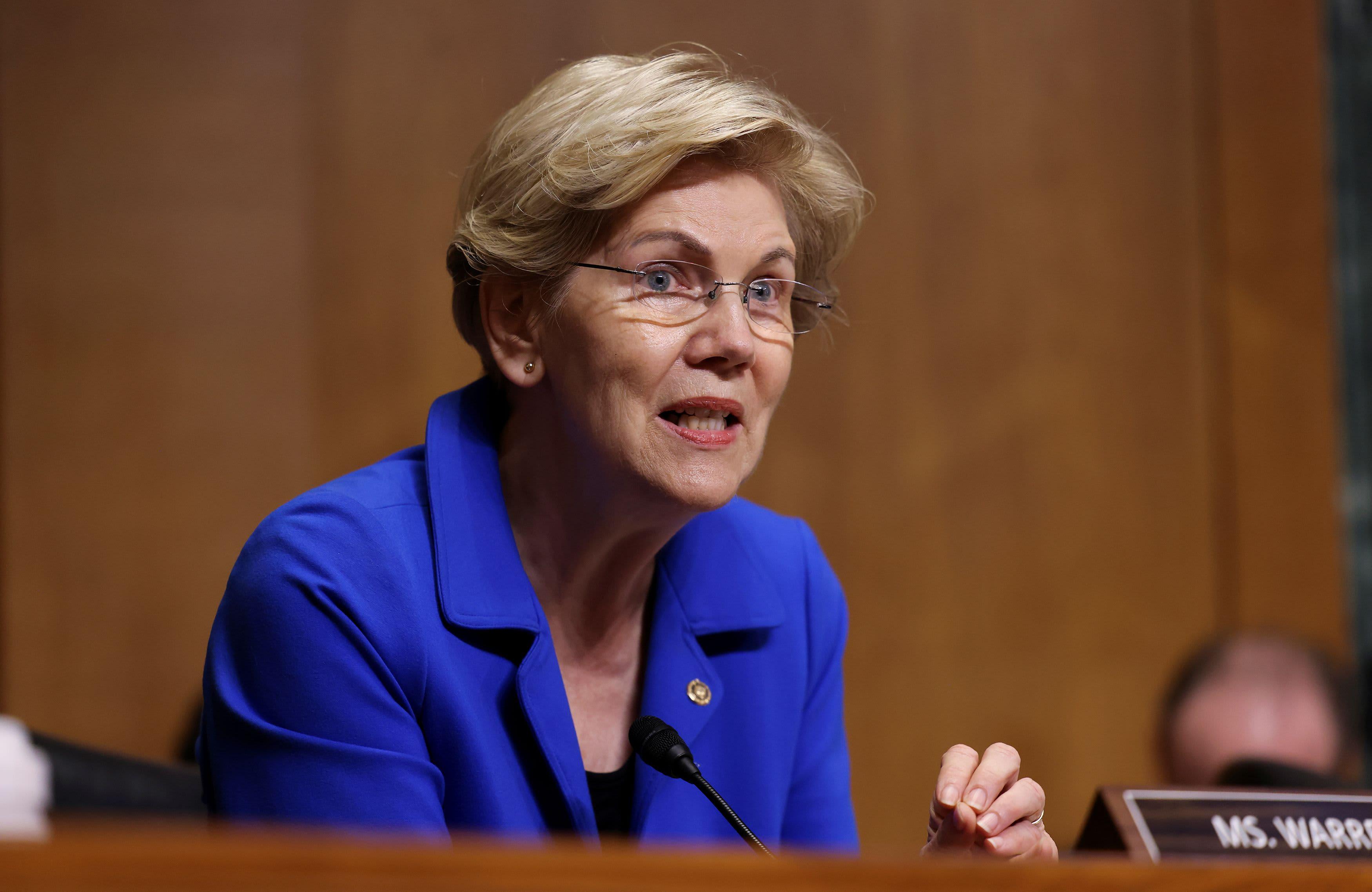 Sen. Elizabeth Warren shoots down a key reason investors buy bitcoin, calls for tighter regulation - CNBC