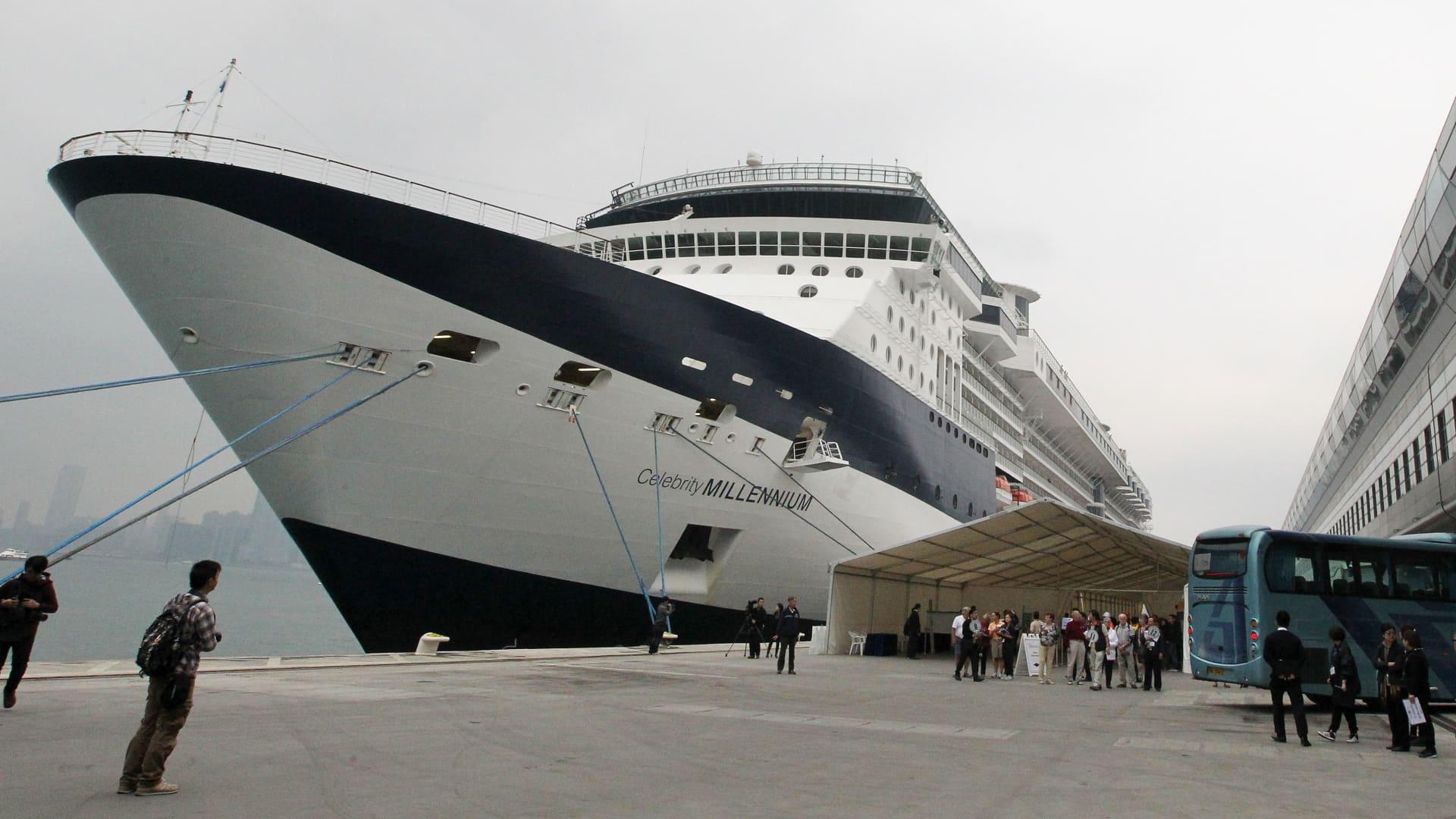 A file photo shows the Celebrity Millennium cruise ship at Kai Tak cruise terminal in Kowloon Bay.