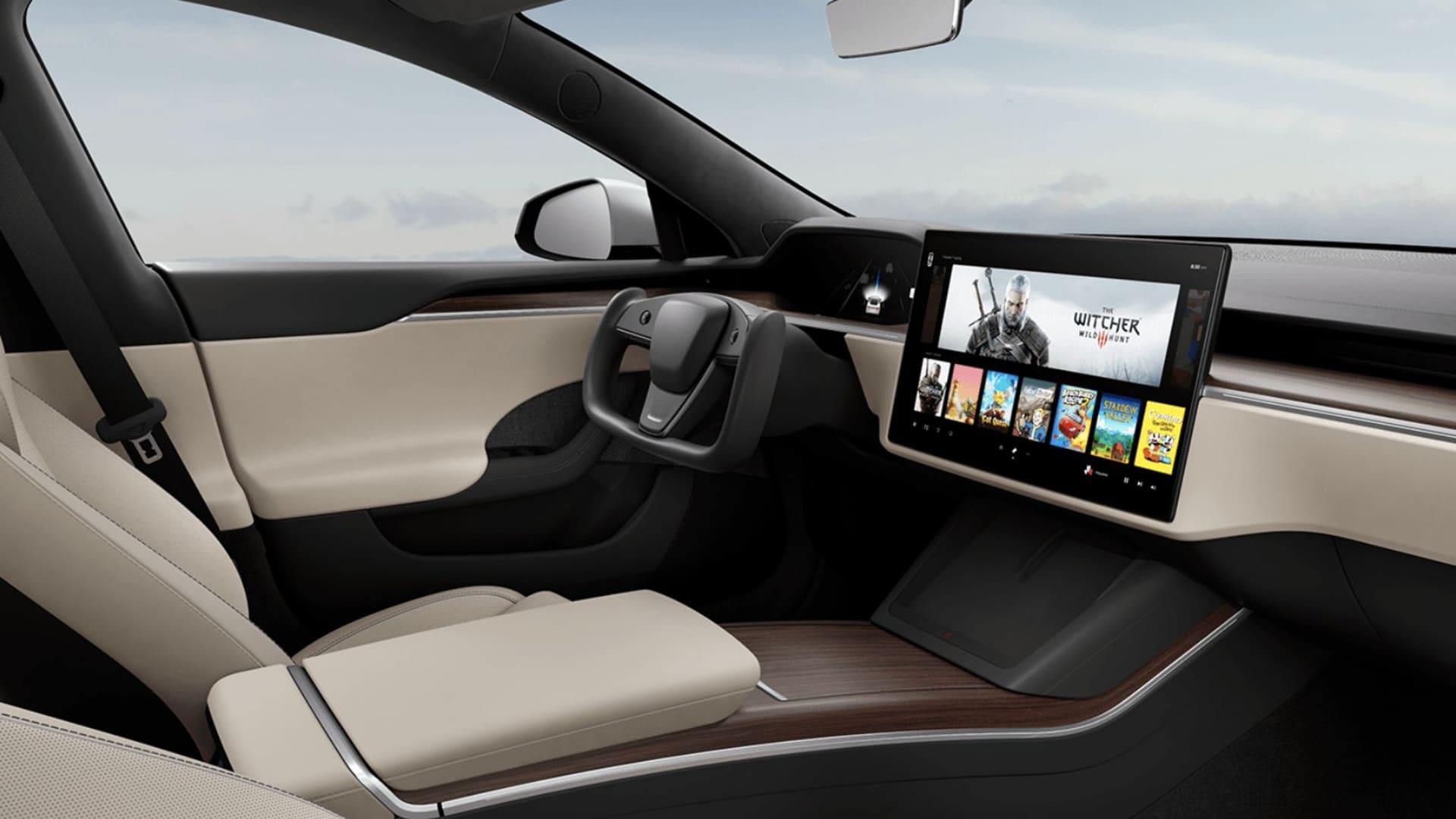 2021 Tesla Model S Plaid interior