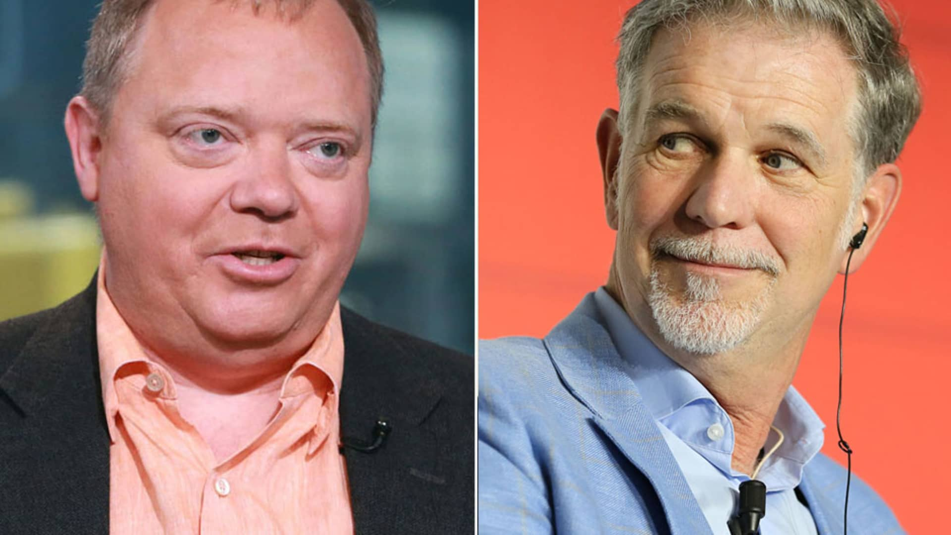 Anthony Wood of Roku and Reed Hastings of Netflix