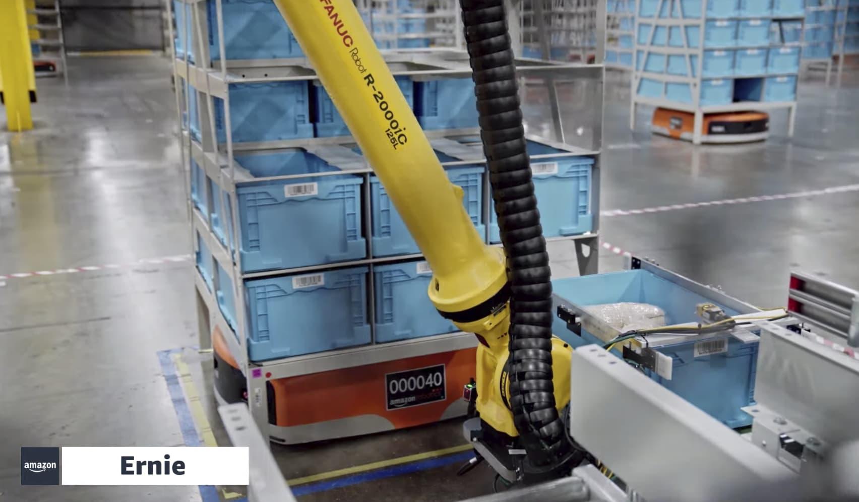 Amazon details new warehouse robots, 'Ernie' and 'Bert'