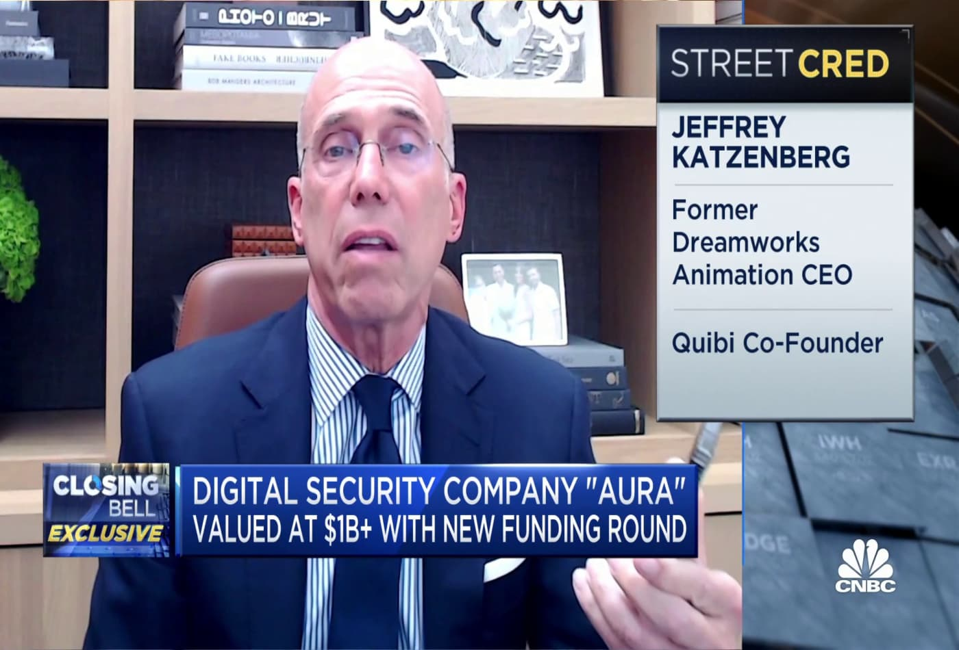 Katzenberg-backed digital security startup Aura valued at $1 billion after new round of funding