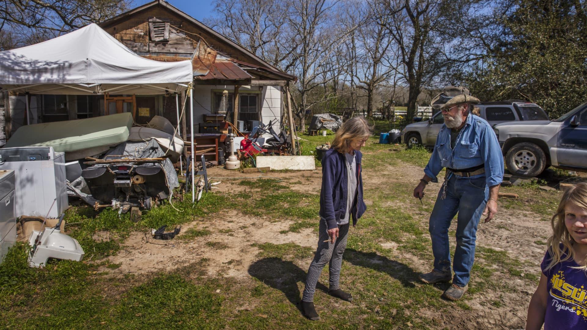 Poor Cajun home in Ville Platte, Louisiana, United States.