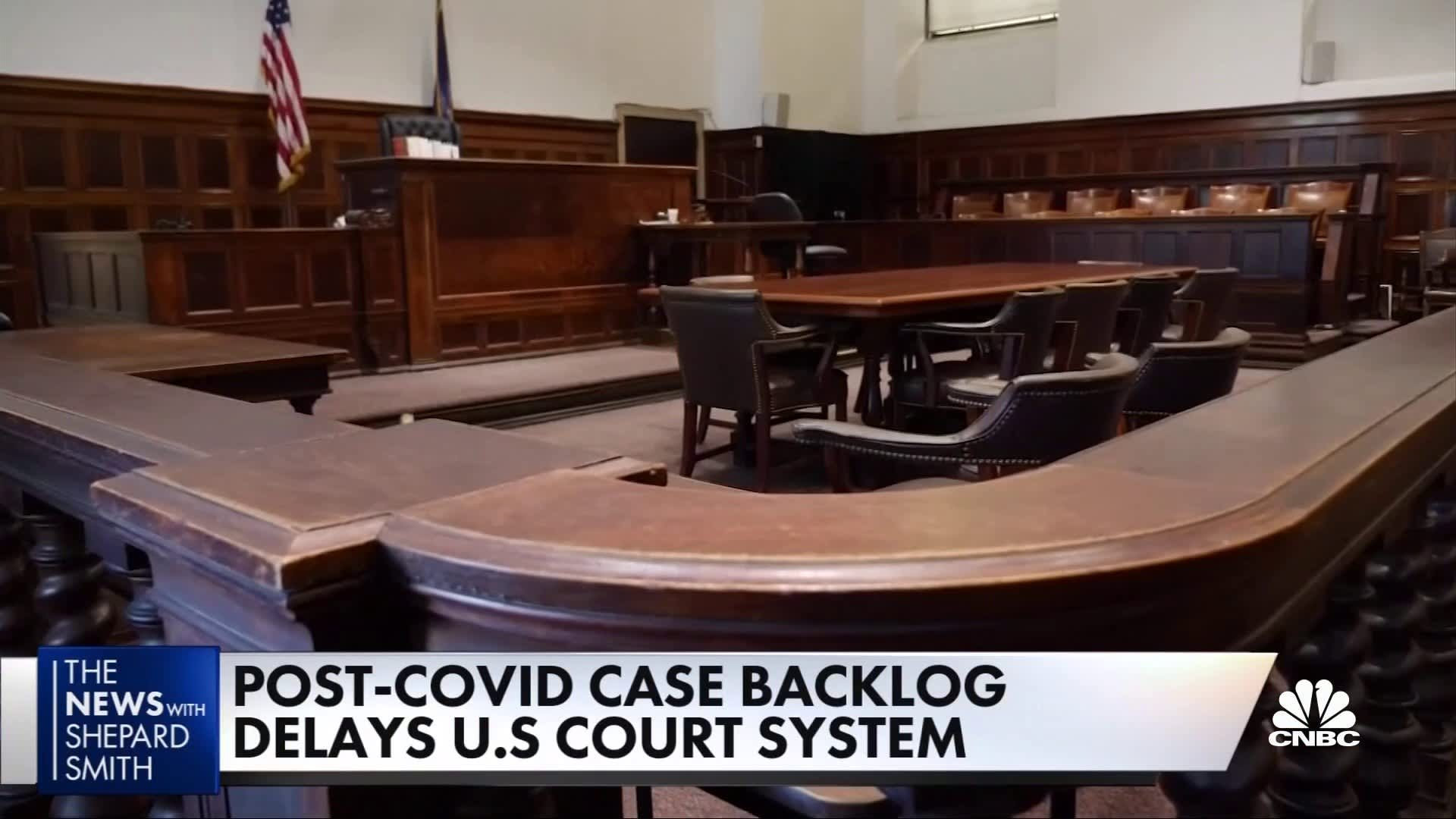 Courts struggling with massive backlog because of pandemic