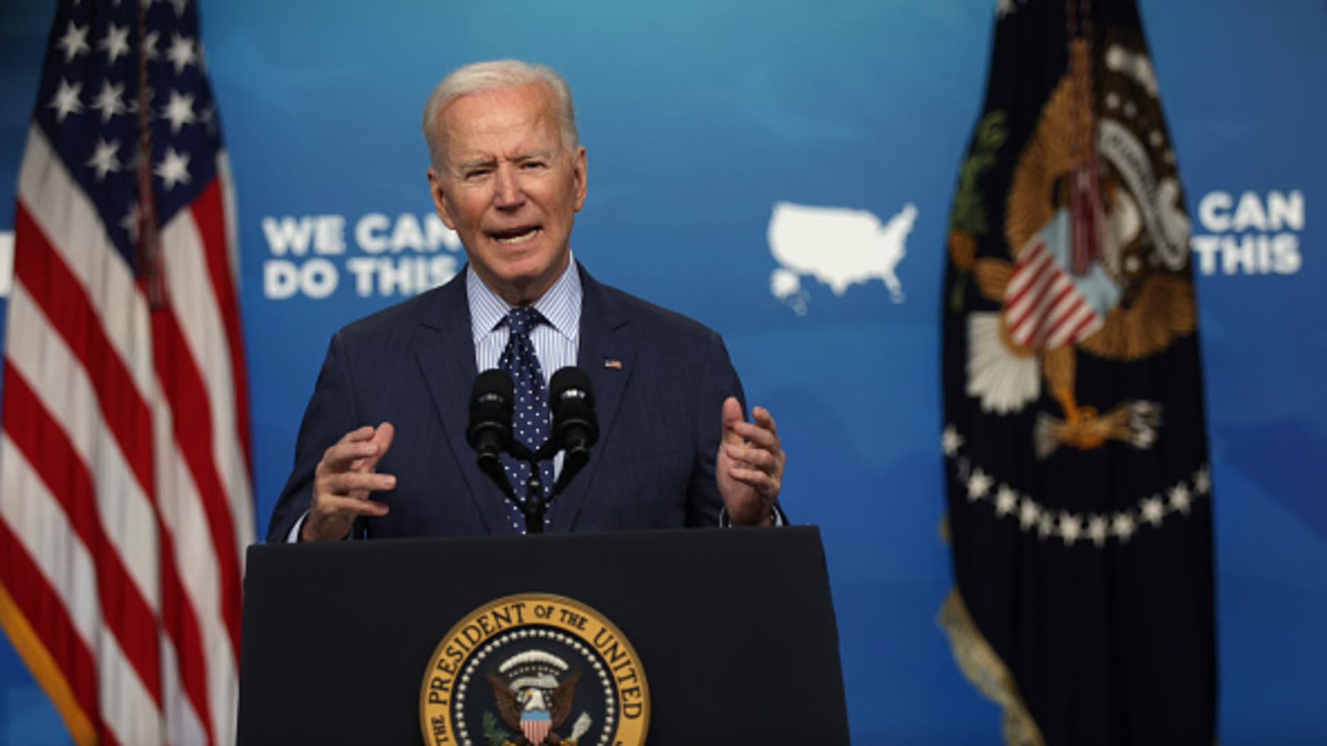 U.S. President Joe Biden speaks during an event in the South Court Auditorium of the White House June 2, 2021 in Washington, DC.