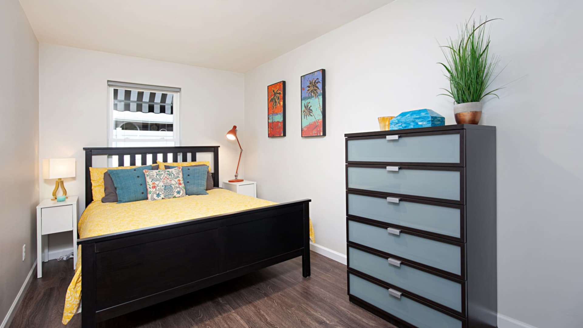 An interior view of Amy O'Dorisio's one-bedroom rental unit.