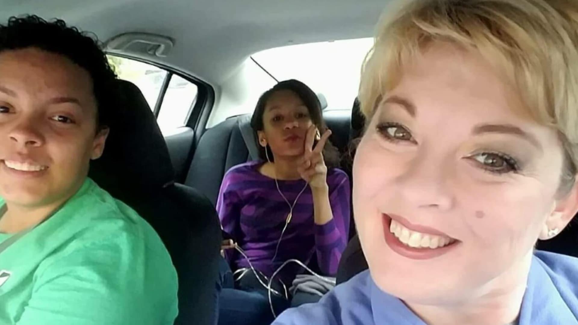 Marla Snead (right), with daughters Kelsie Dillard (left) and Carlee Turner.