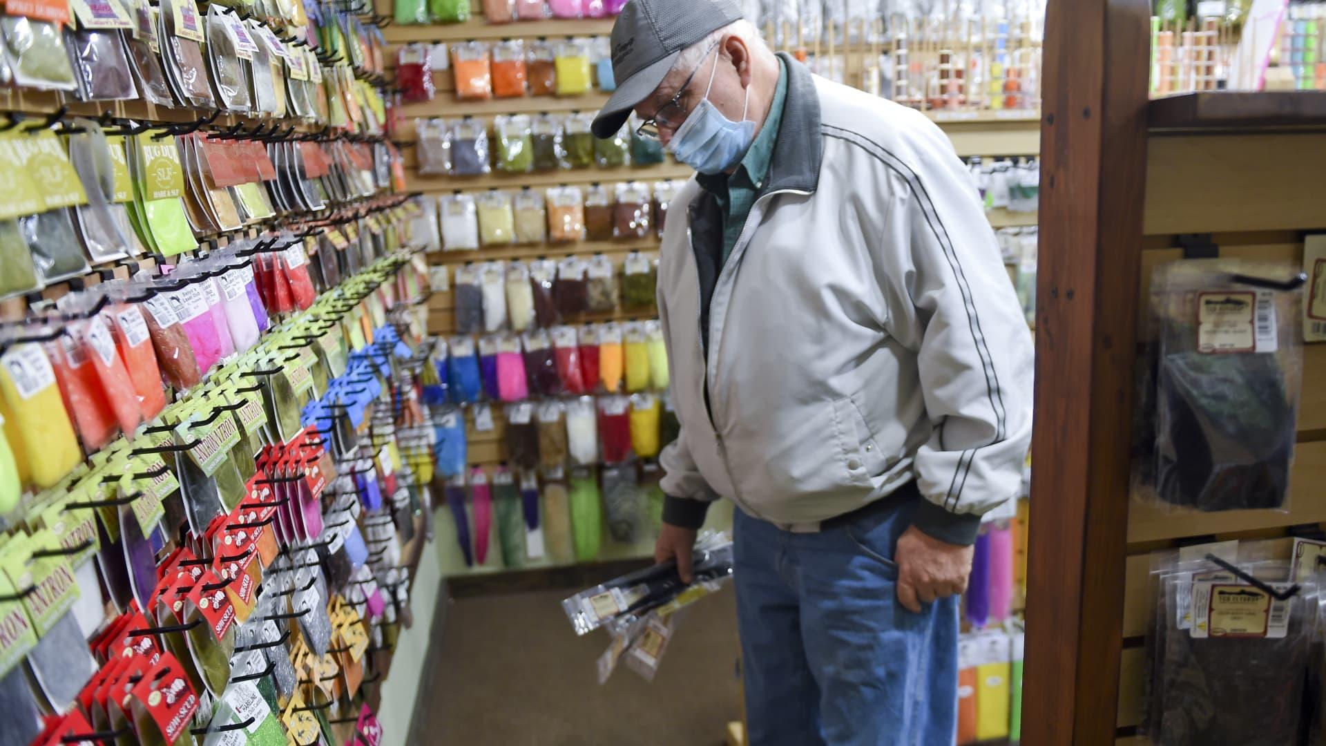 A shopper in West Lawn, PA, February 19, 2021.