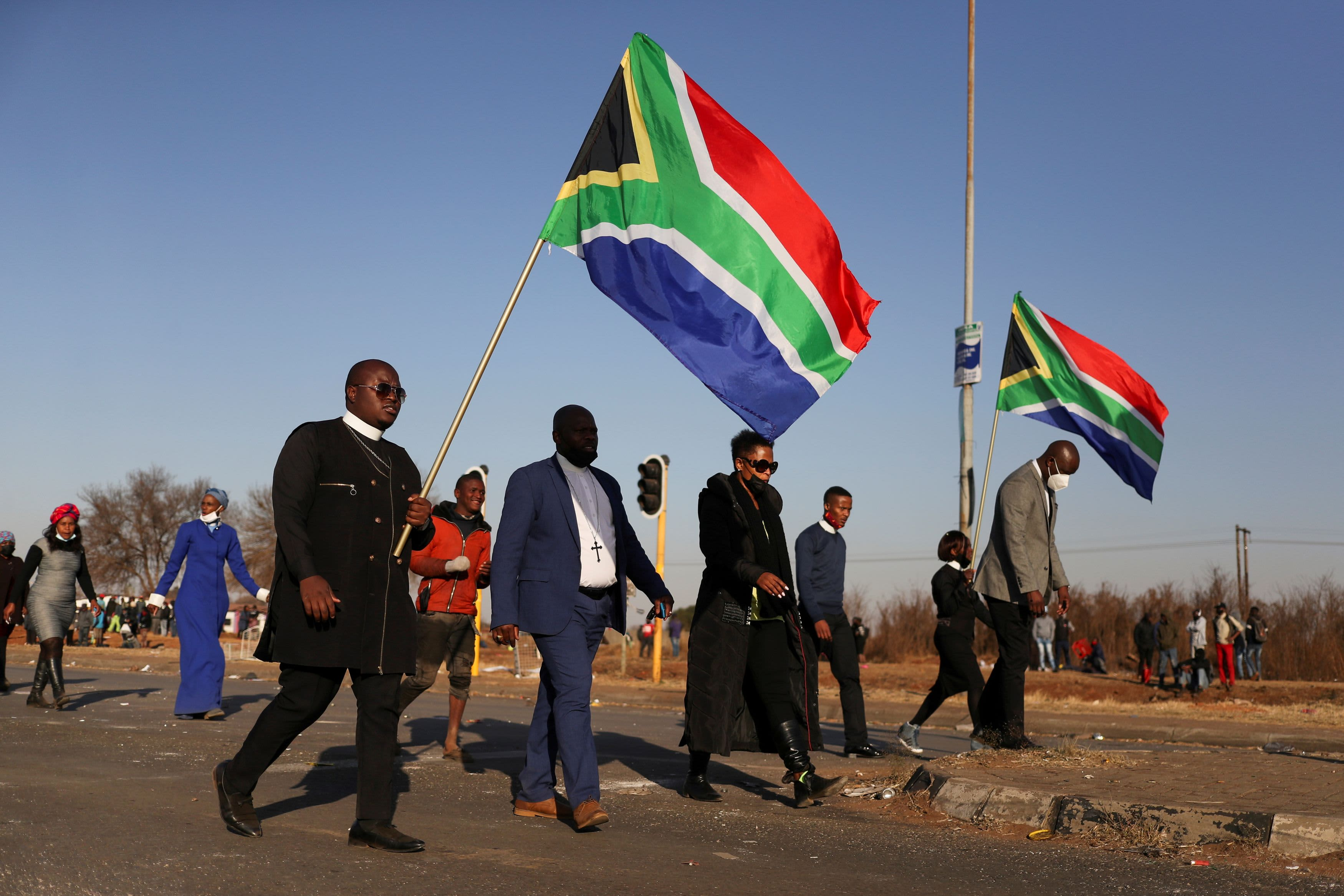 South Africa unrest and Covid measures are starting to derail its economic recovery