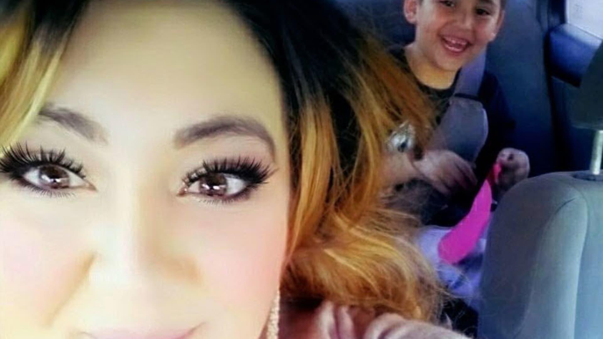 Vanessa Rivera and her son.