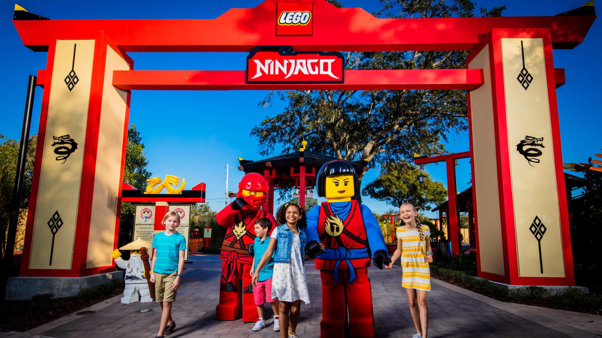 The LEGO NINJAGO World section of LEGOLAND Florida Resort in Winter Haven, Florida.