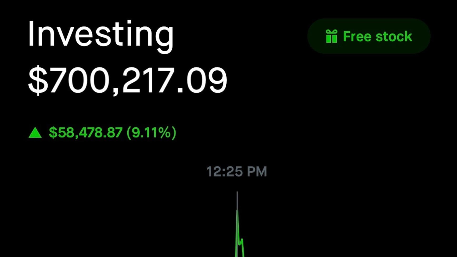 Glauber Contessoto's dogecoin holdings on Robinhood as of July 20 at 2:50 p.m. EST.