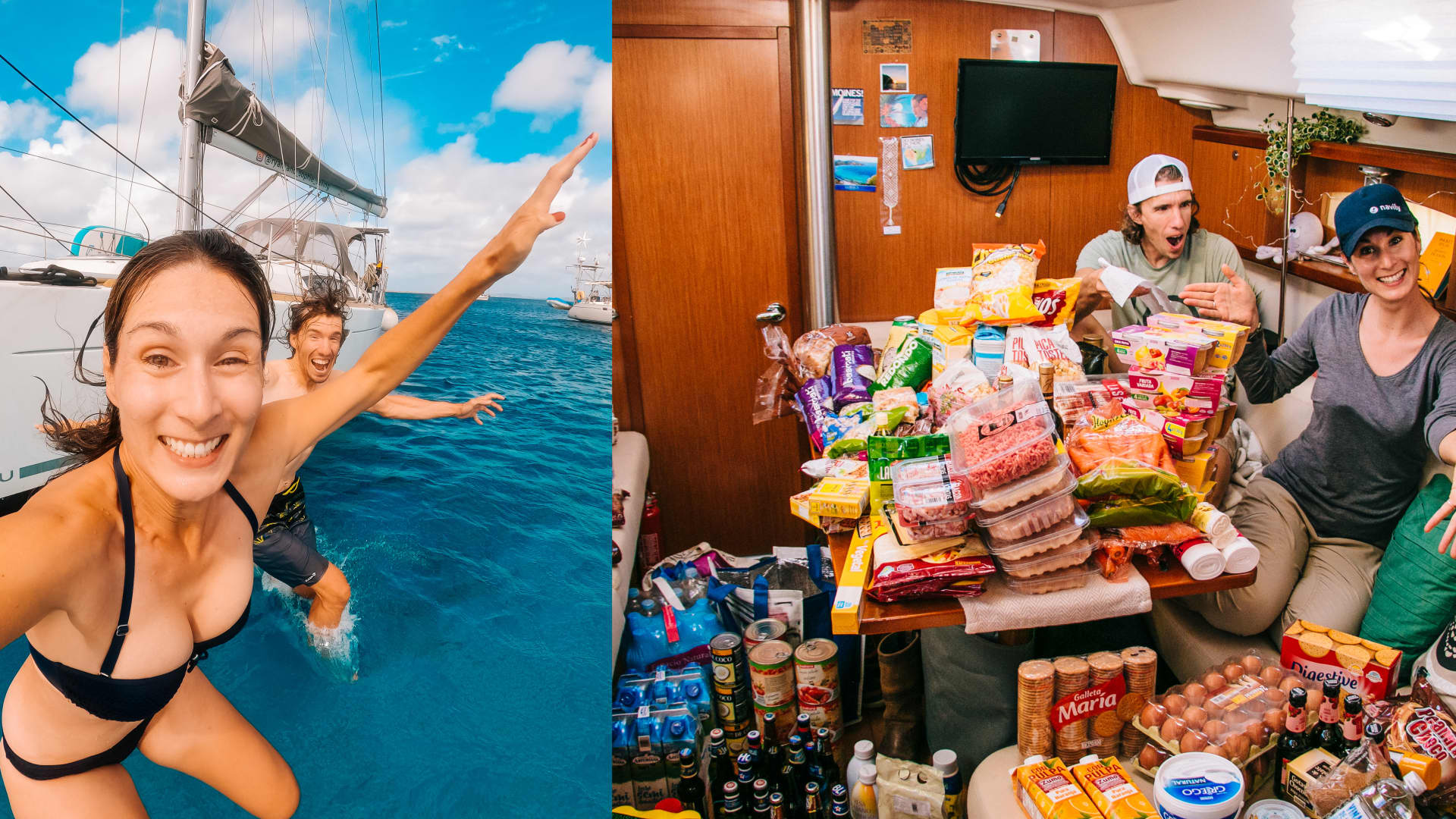 Yacht owners have budgets too, said Sophie Darsy who along with Ryan Ellison, spend about $3,500 a month for boat maintenance, data plans, groceries, the occasional marina stay and activities such as diving, windsurfing and car rentals.
