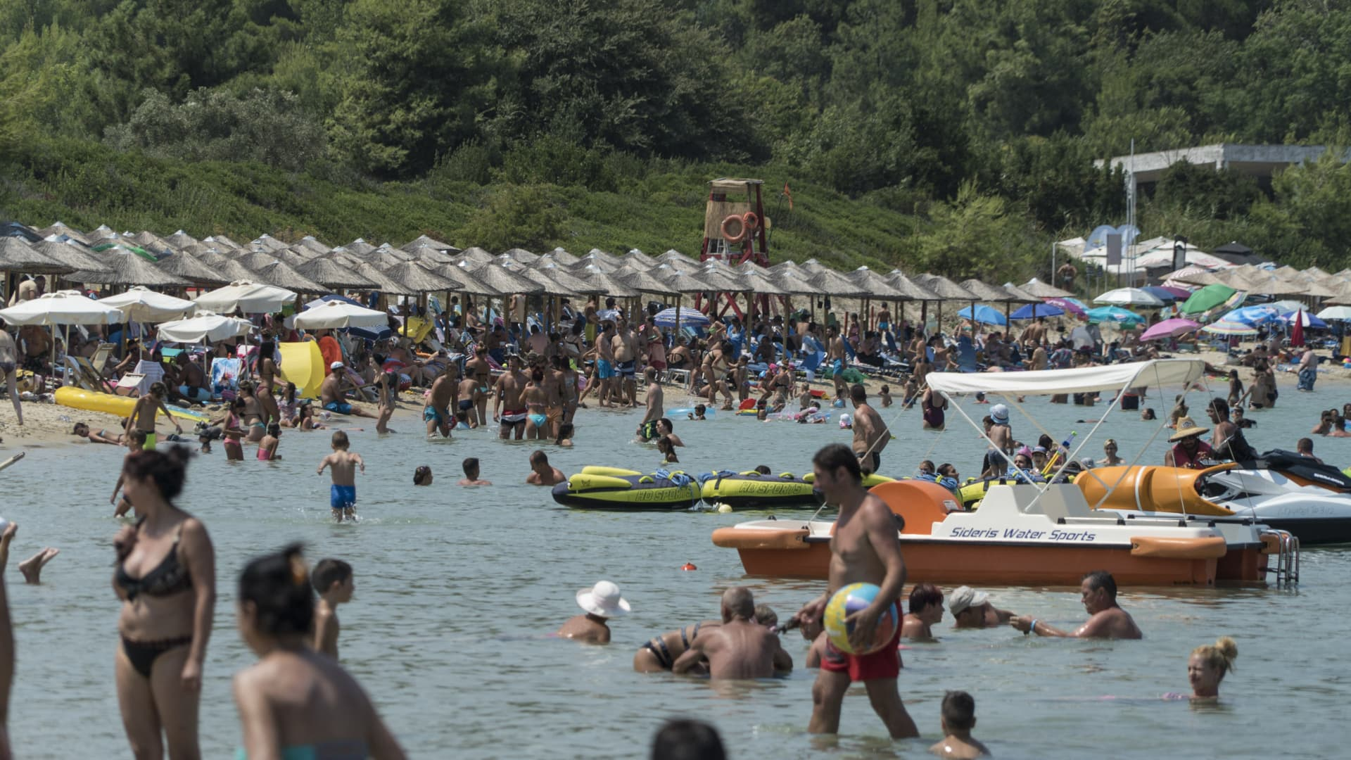 Busier times in Paliouri beach, Greece: This image was taken in 2017 which was considered to be one of the best performing summers, in terms of visitors arrivals.