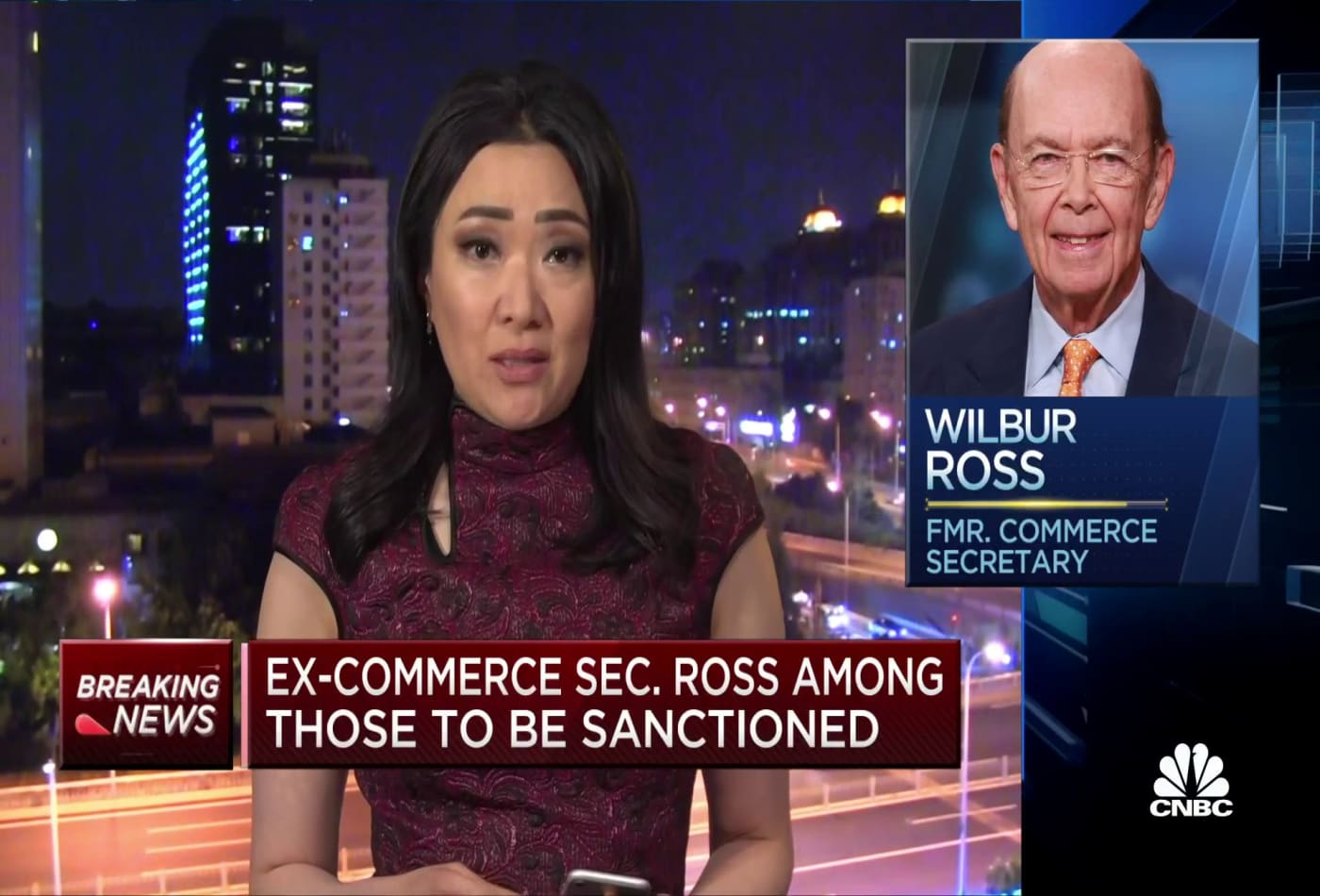 China announces sanctions against seven Americans, including former Commerce Secretary Wilbur Ross