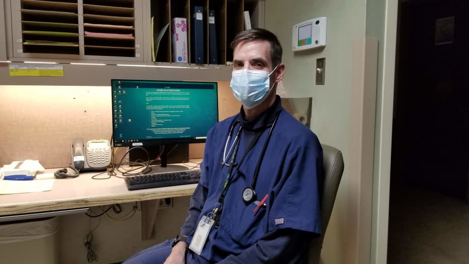 RN Matthew Roed at Courage Kenny Rehabilitation Institute in Golden Valley, Minnesota.