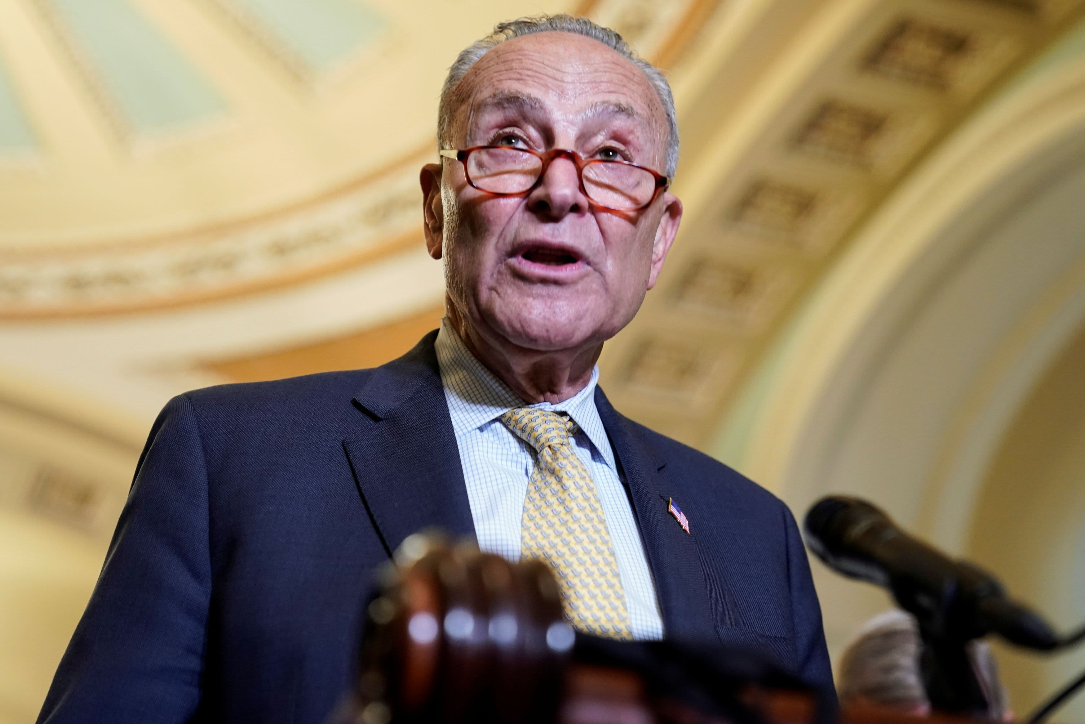 Senators will get the job done on infrastructure, Schumer says