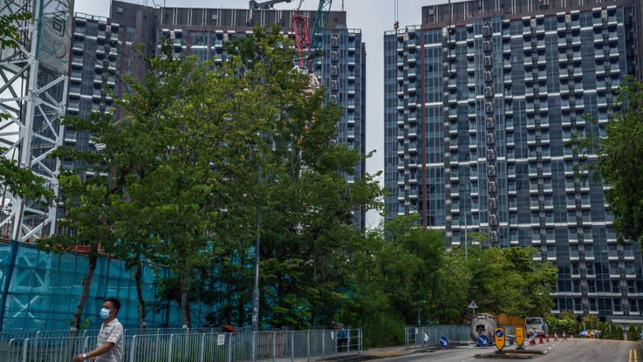 The Emerald Bay residential project developed by China Evergrande in the Tuen Mun district of the New Territories in Hong Kong, China, on Friday, July 23, 2021.