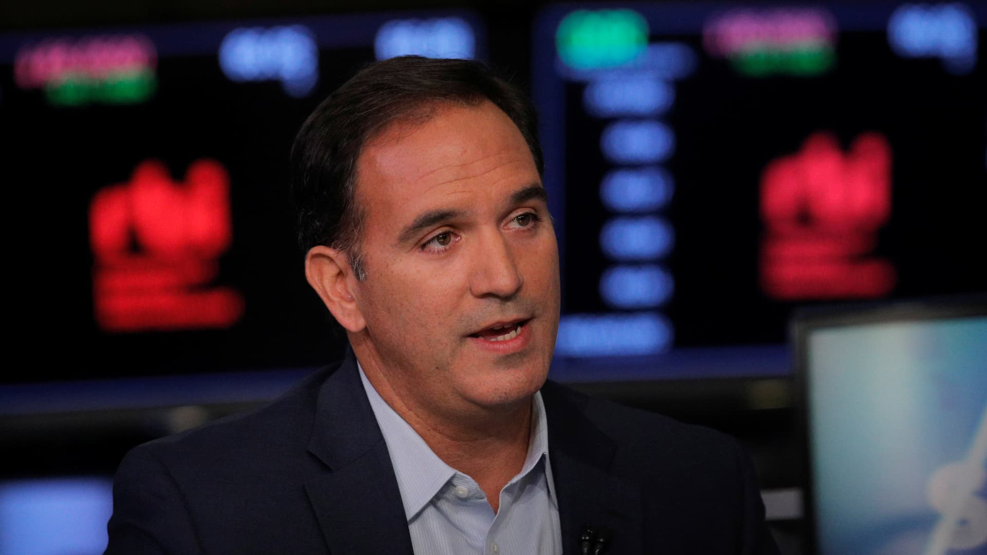 Jose Cil, CEO of Restaurant Brands International, speaks during an interview with CNBC on the floor at the New York Stock Exchange in New York, U.S., November 6, 2019.