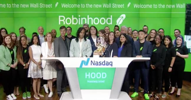 Robinhood surges another 13% a day after jumping past IPO price