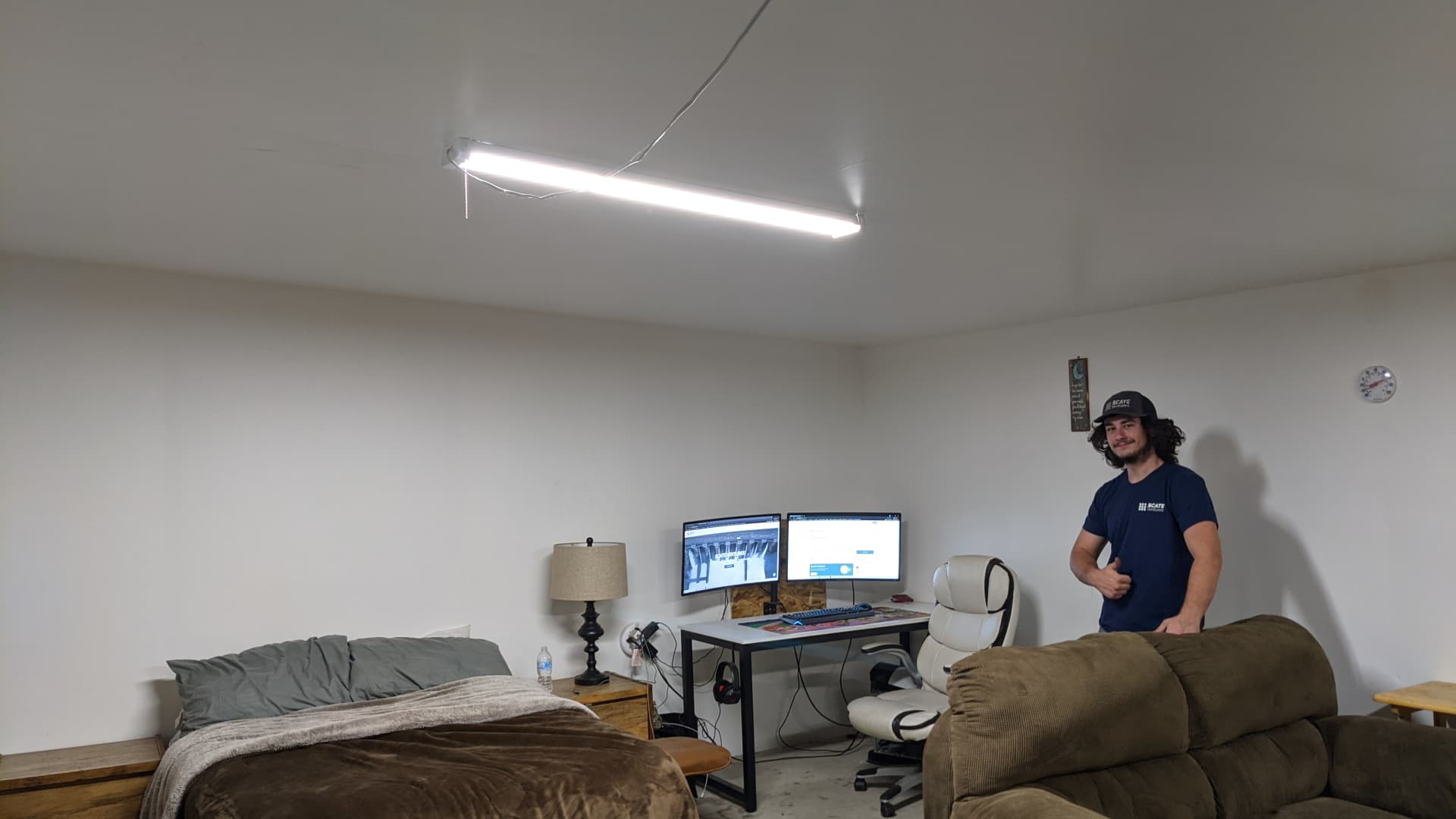 Bitcoin miner Nick Sears lives on-site at the SCATE Ventures mining farm in Dallesport, Washington.