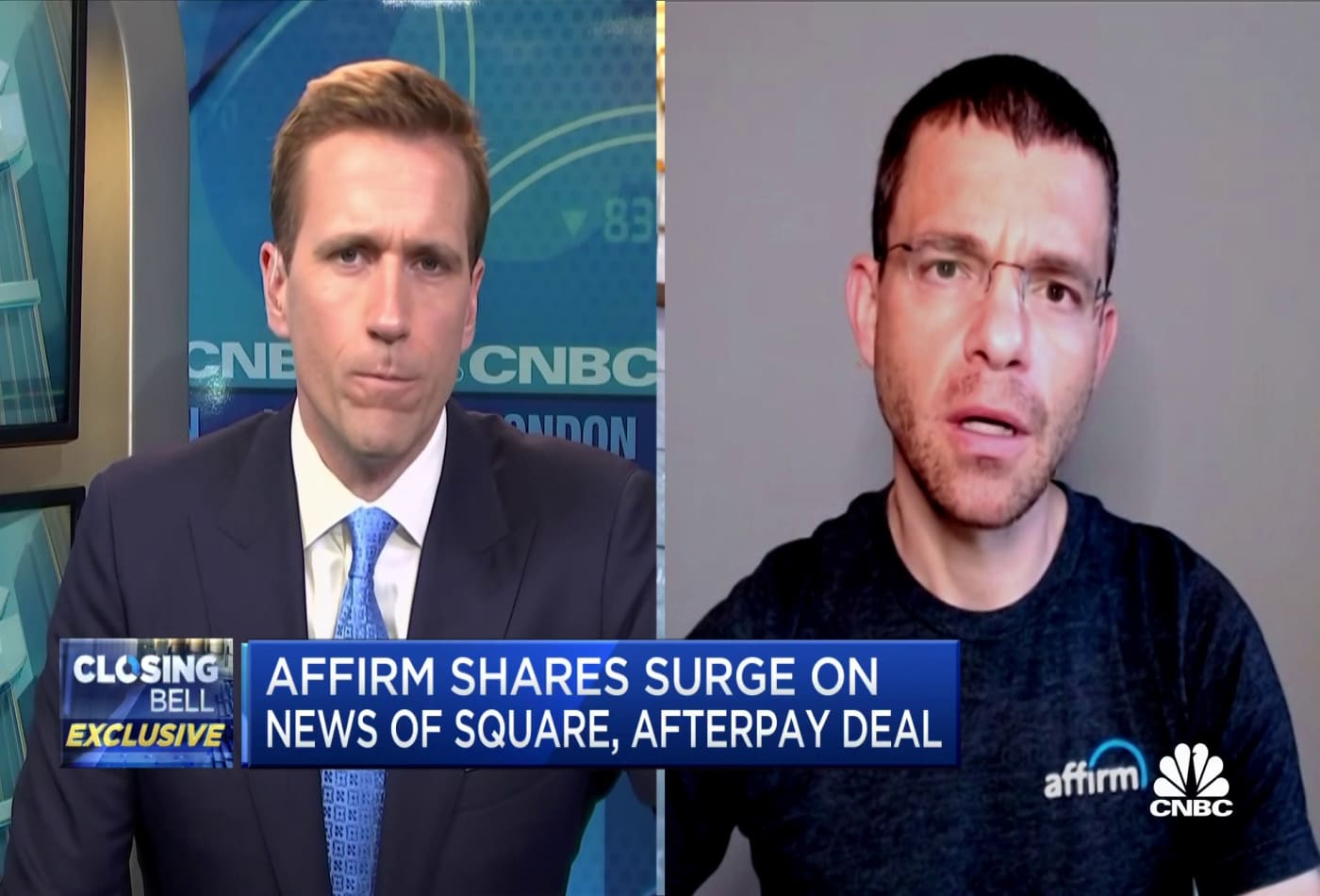 Affirm shares surge following Square, Afterpay deal