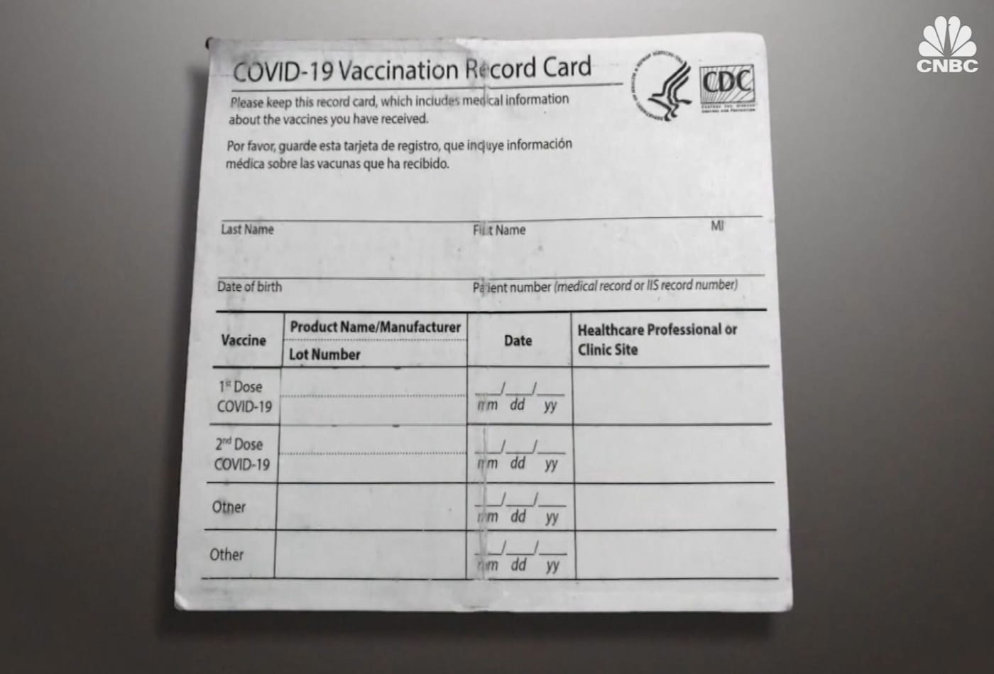 Growing concern over prevalence of fake vaccination cards in U.S.