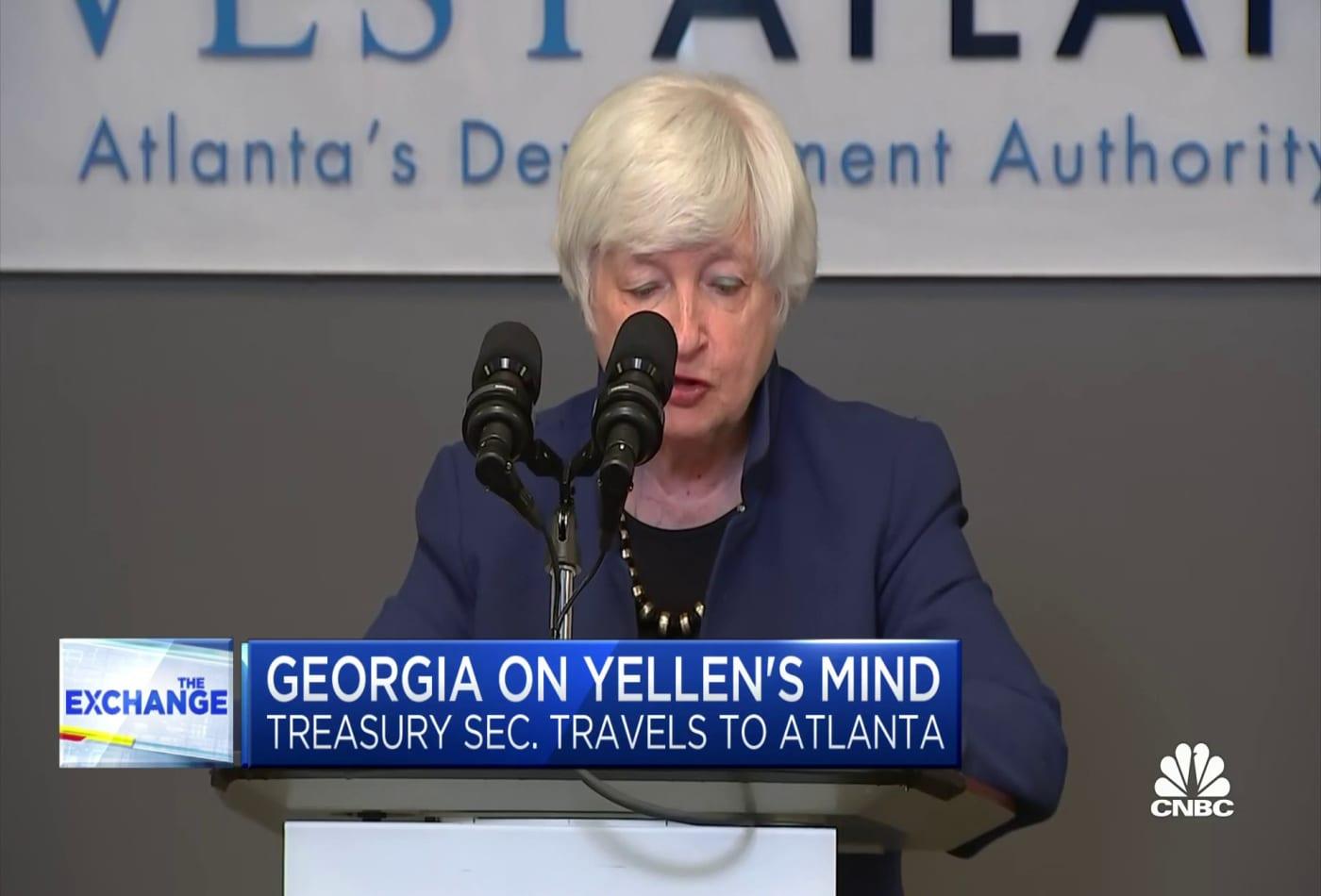 Treasury Sec. Yellen hits the road to promote White House economic agenda