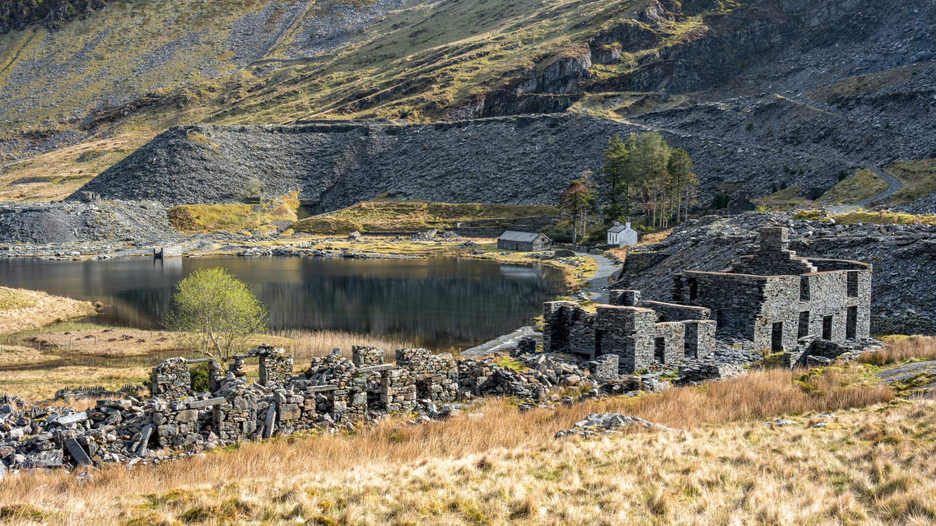 An abandoned quarry in Snowdonia, Wales, United Kingdom.