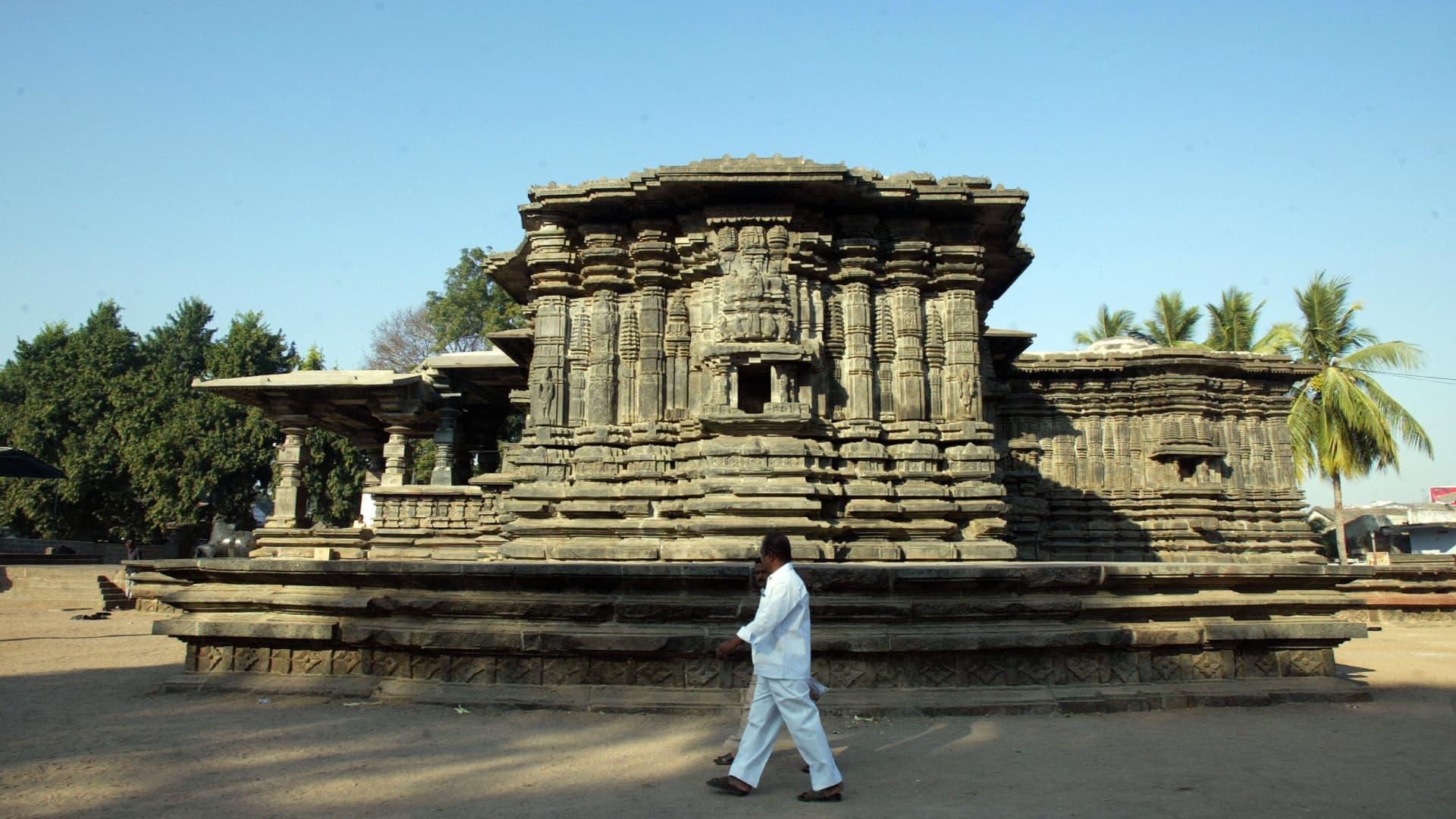 The Kakatiya Rudreshwara Temple in India.