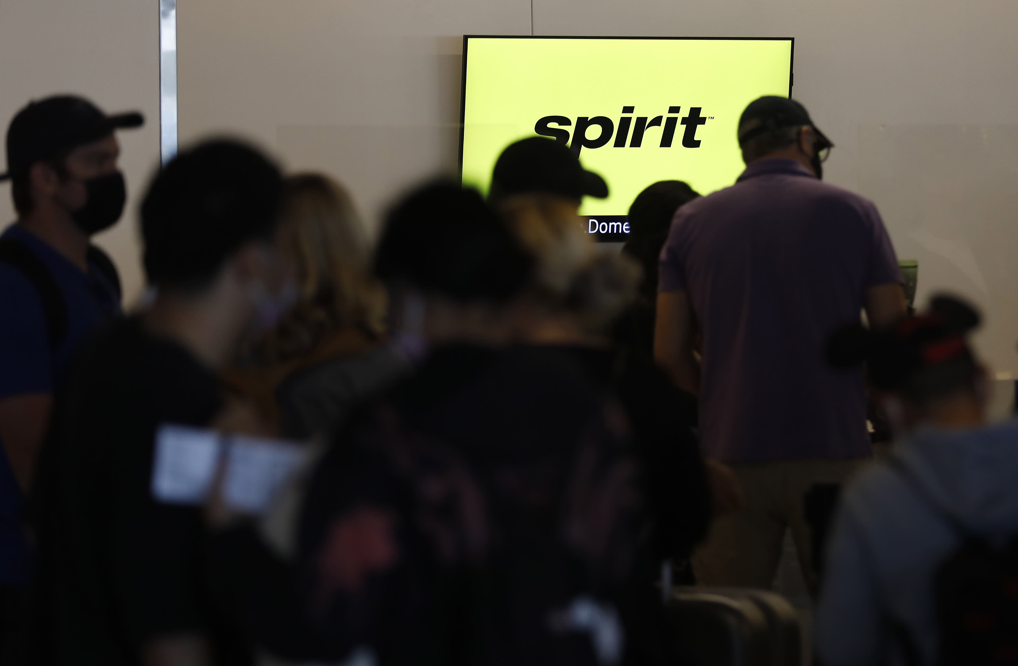 Spirit Airlines cancels nearly half of Thursday flights as travel chaos enters fifth day