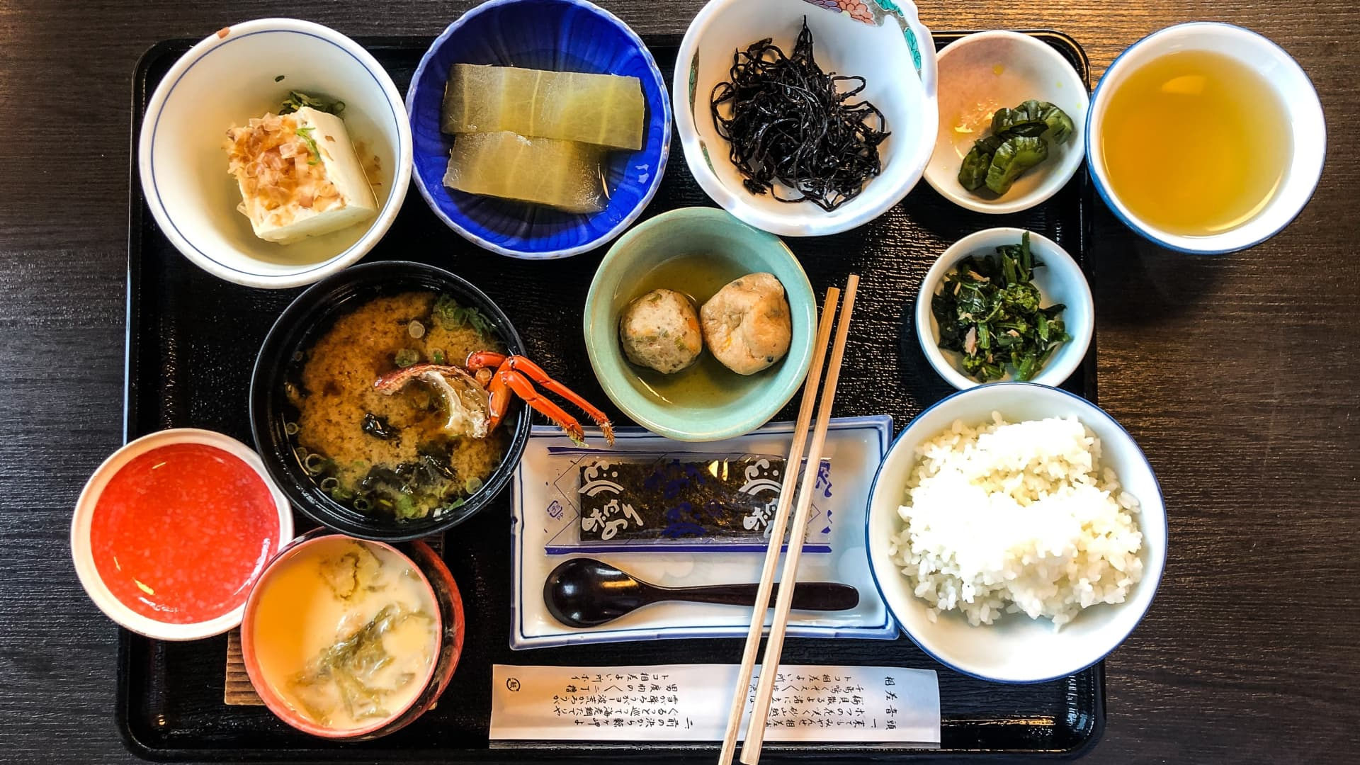 Kaiseki is a traditional multi-course Japanese dinner