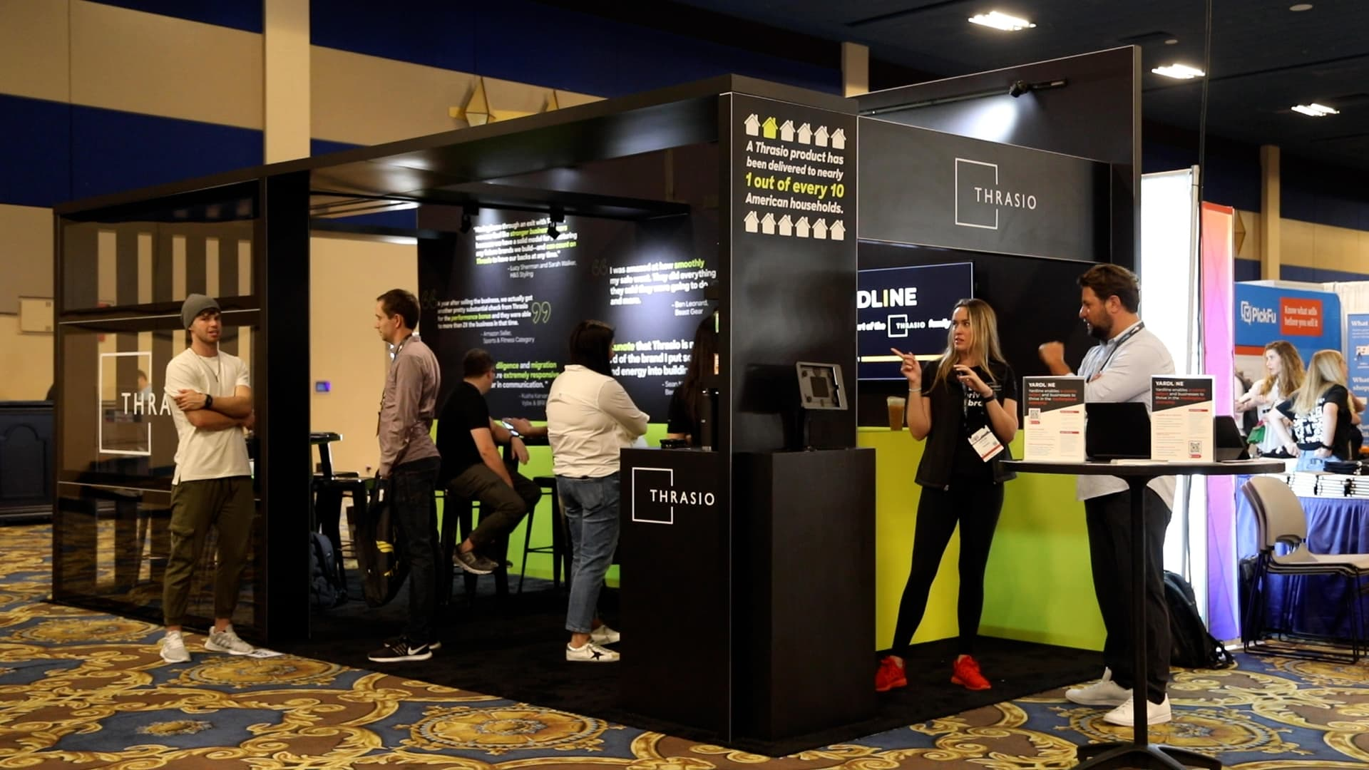 Thrasio, an early leader in the big business of Amazon aggregators, had a booth at the popular Prosper Show for Amazon sellers in Las Vegas, Nevada, on July 14, 2021.