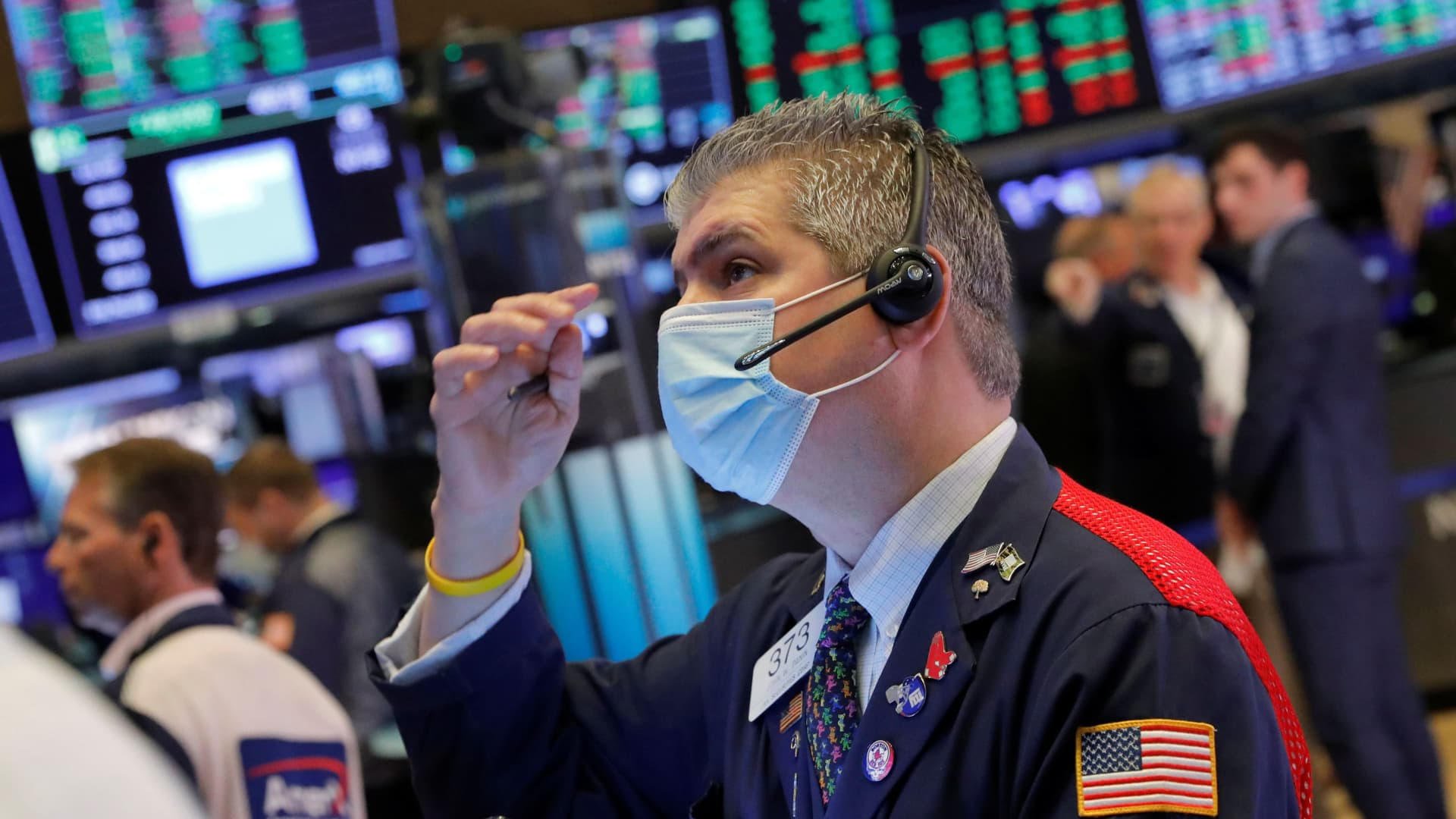 A trader works on the trading floor at the New York Stock Exchange (NYSE) in Manhattan, New York City, U.S., August 10, 2021.
