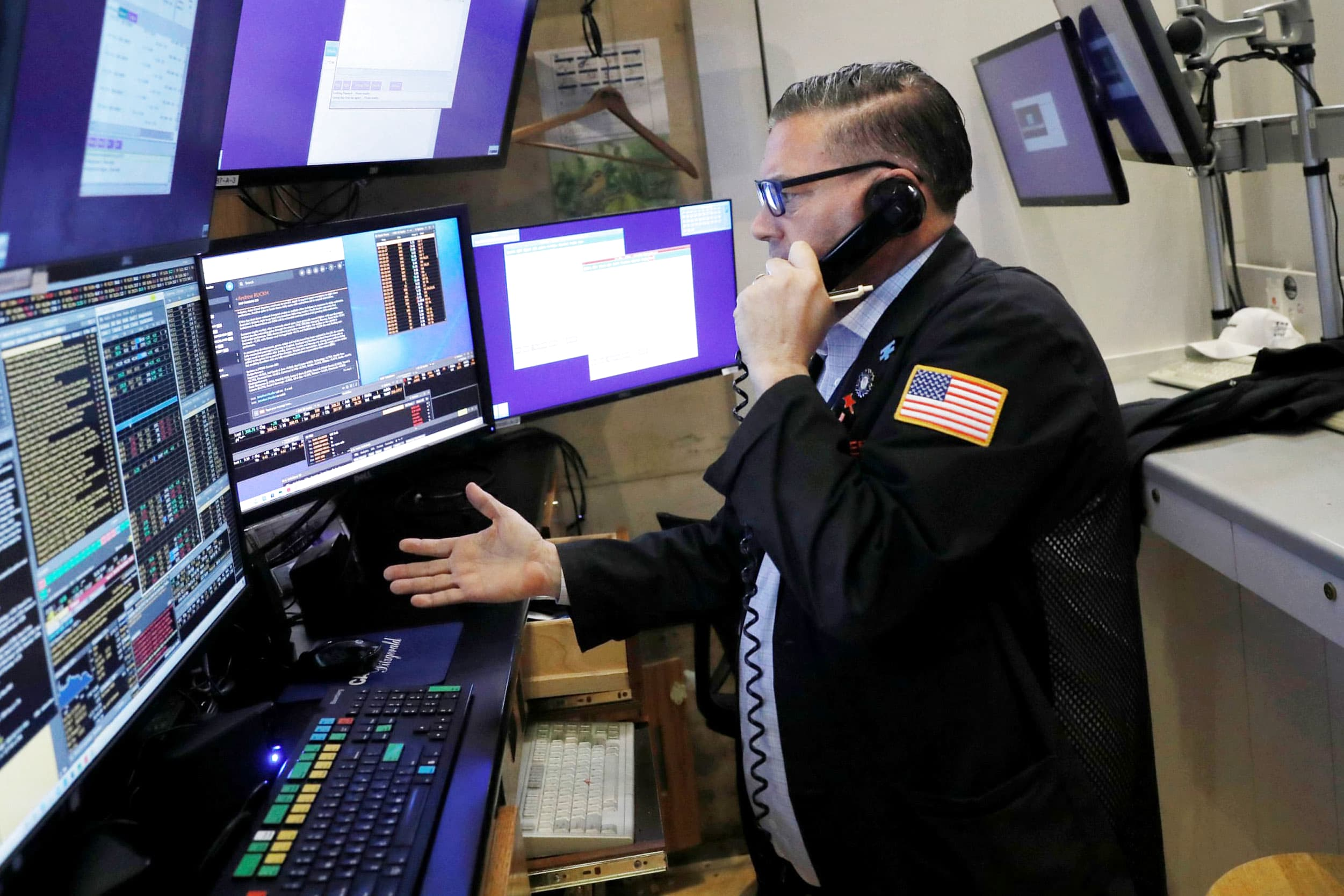 Stock futures are flat as investors remain cautious about September