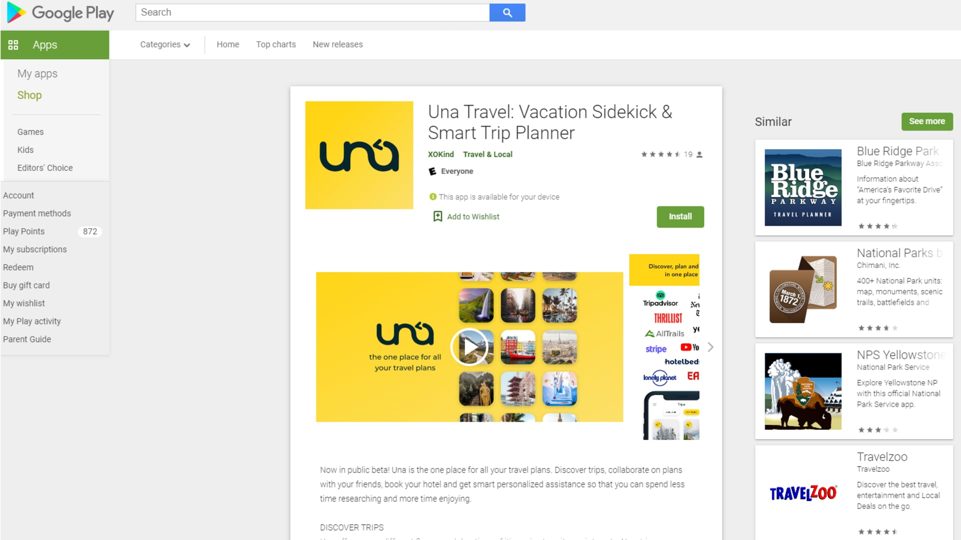XOKind's Una Travel: Vacation Sidekick & Smart Trip Planner is now available in the Google Play and Apple app stores.