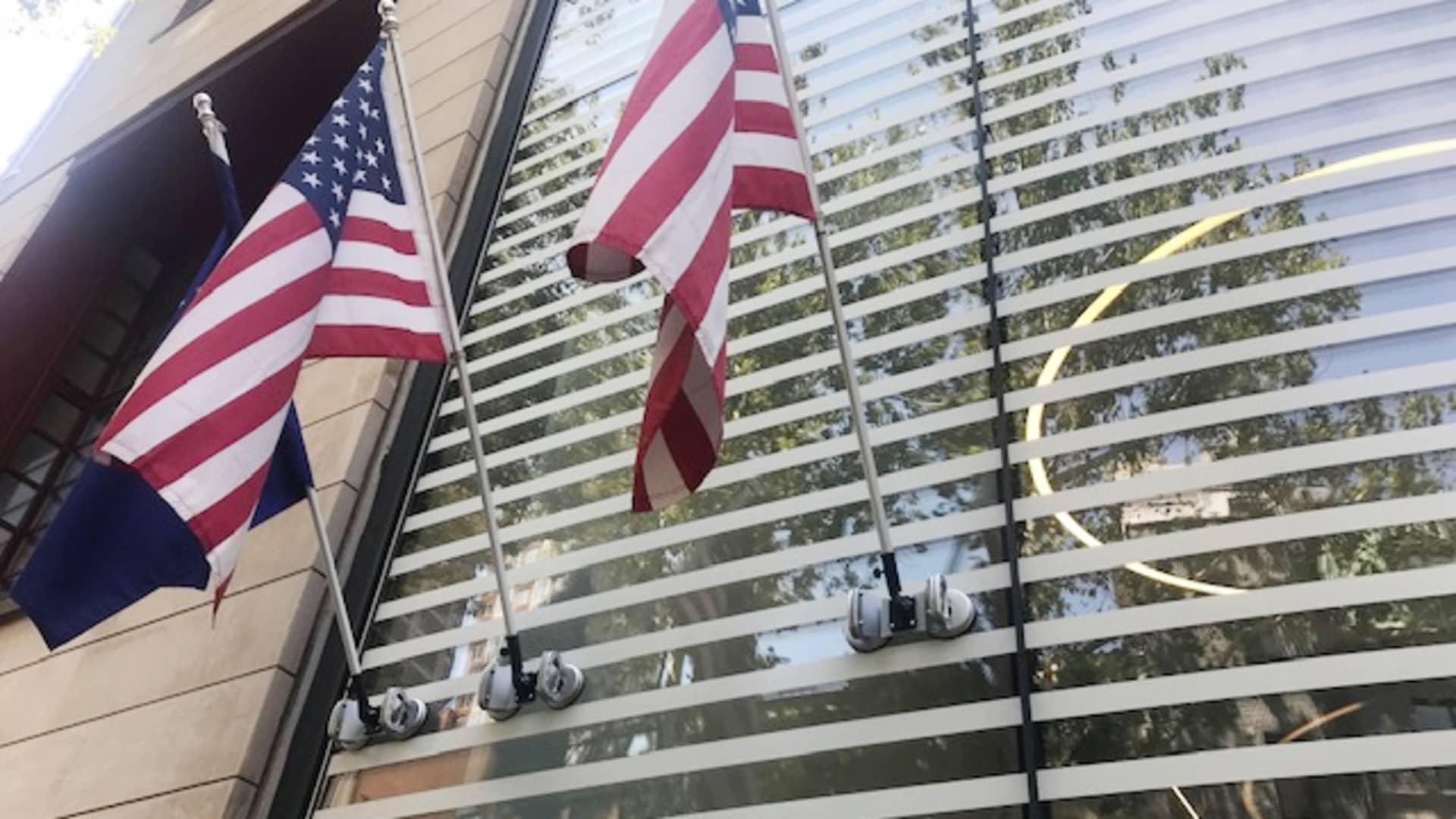 Exterior of the Himalaya Embassy in New York.