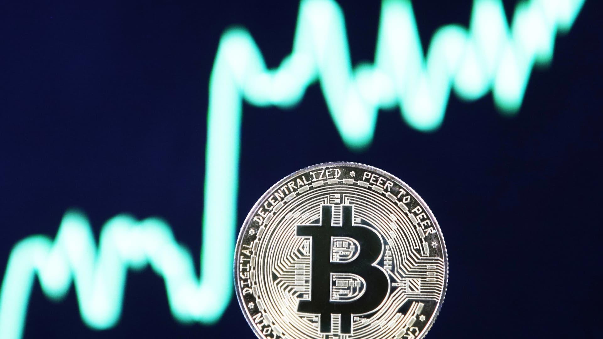 A visual representation of bitcoin.